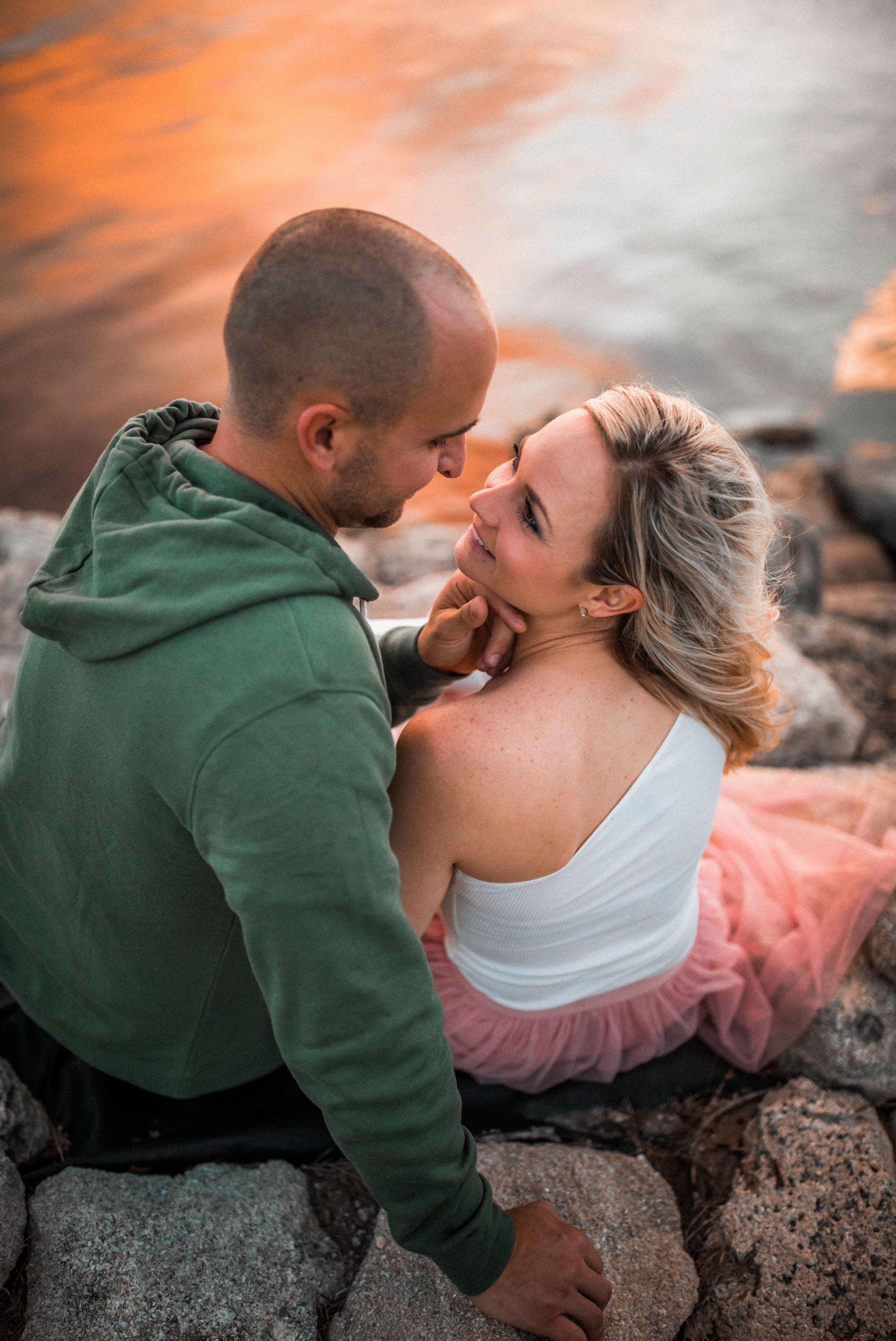 Cocoa Beach Boho Surf style sunset engagement session Lookslikefilm- Courtney+Tommy 31.jpg