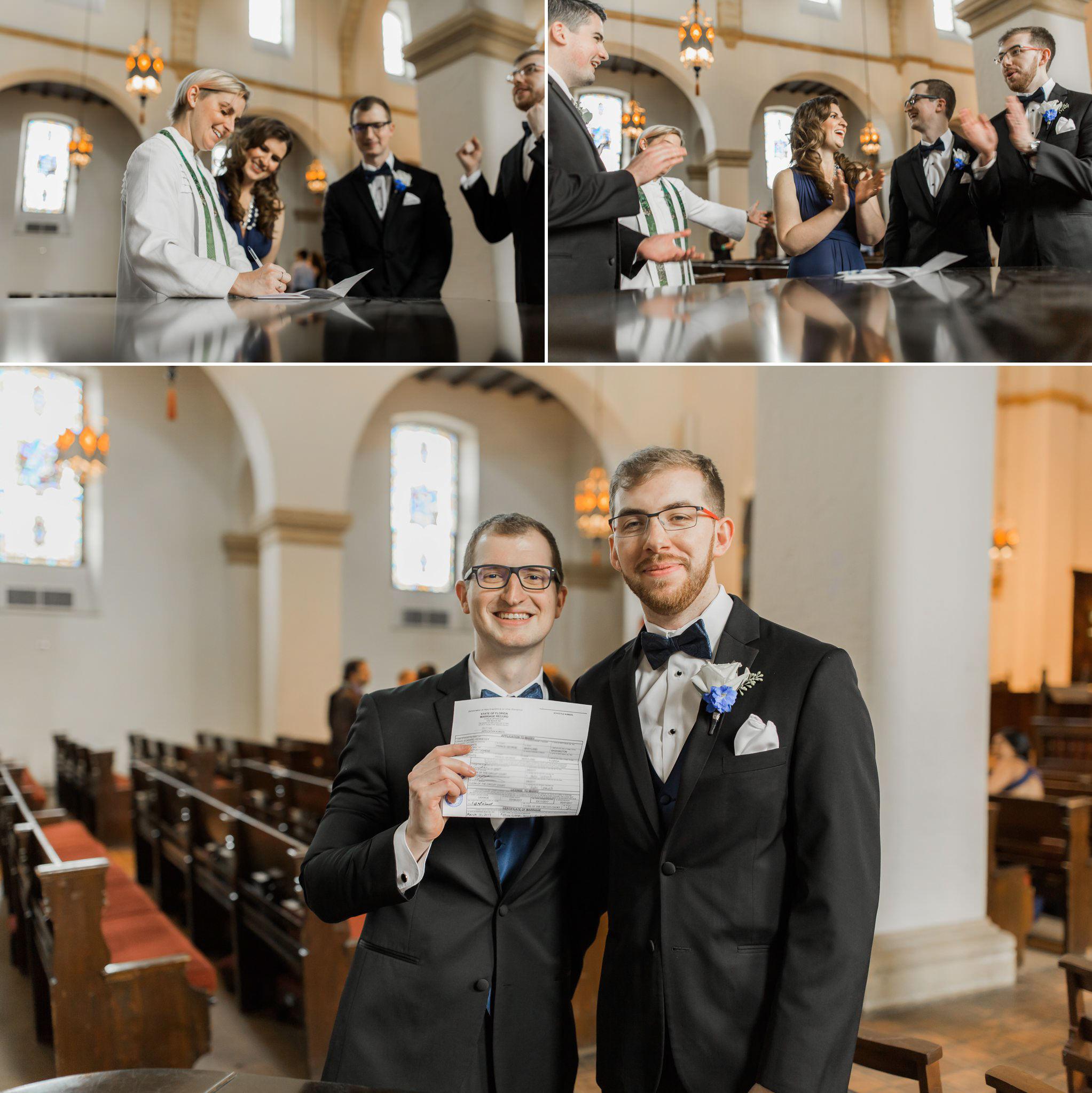 Rollins Chapel + Orlando Science Center Gay LGBT Dinosaur Themed Wedding Adam + Craig 29.jpg
