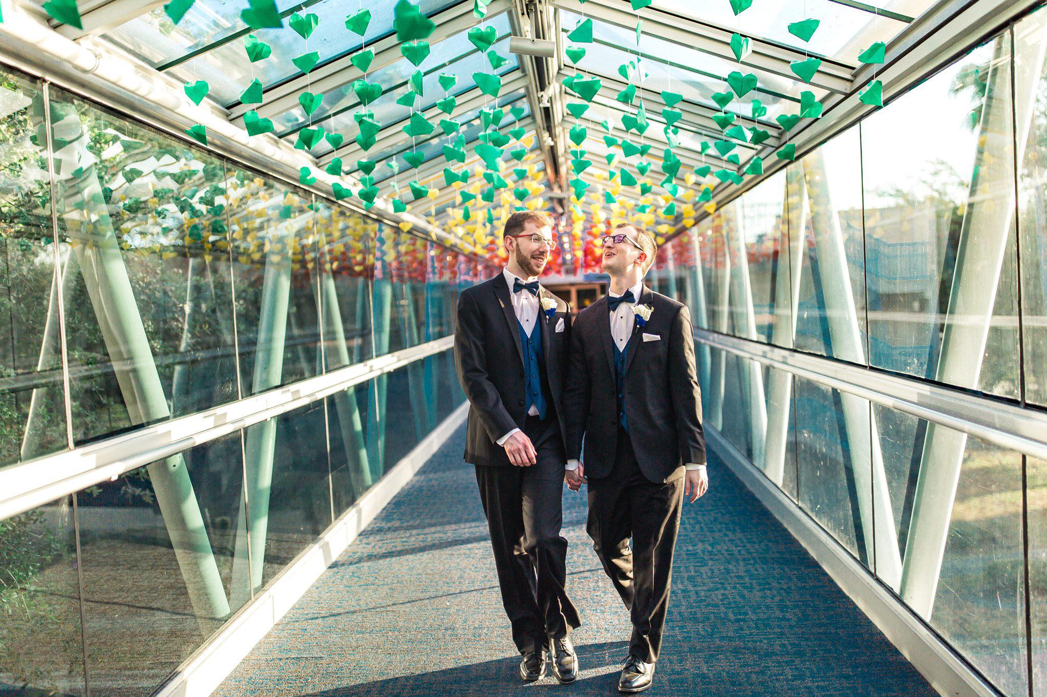 Rollins Chapel + Orlando Science Center Gay LGBT Dinosaur Themed Wedding Adam + Craig 42.jpg