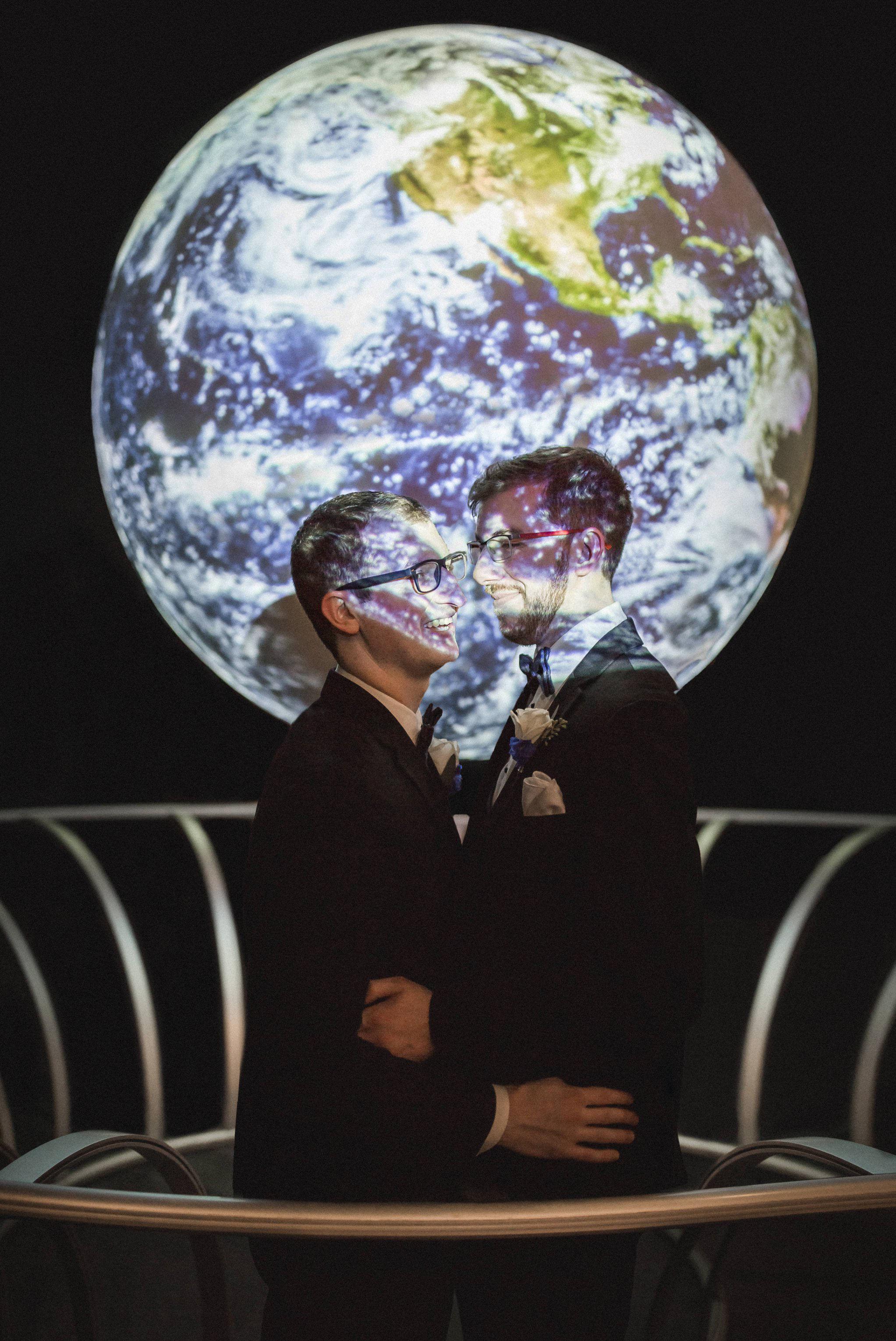 Rollins Chapel + Orlando Science Center Gay LGBT Dinosaur Themed Wedding Adam + Craig 50.jpg