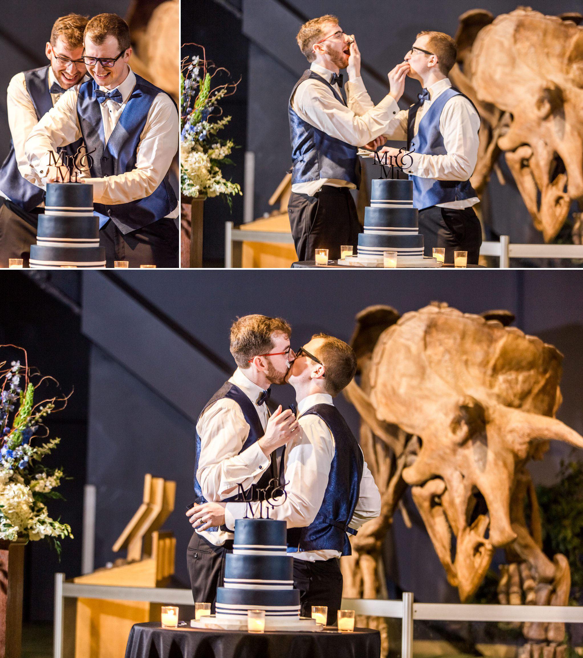 Rollins Chapel + Orlando Science Center Gay LGBT Dinosaur Themed Wedding Adam + Craig 61.jpg