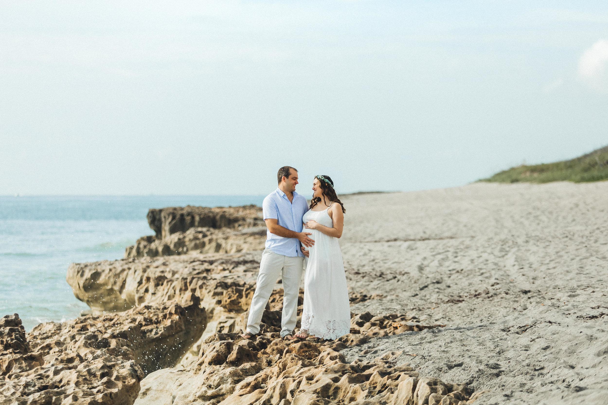 White Maternity Dress- Erica + Aaron's Blowing Rock Preserve- Florida Maternity Photos-5.jpg
