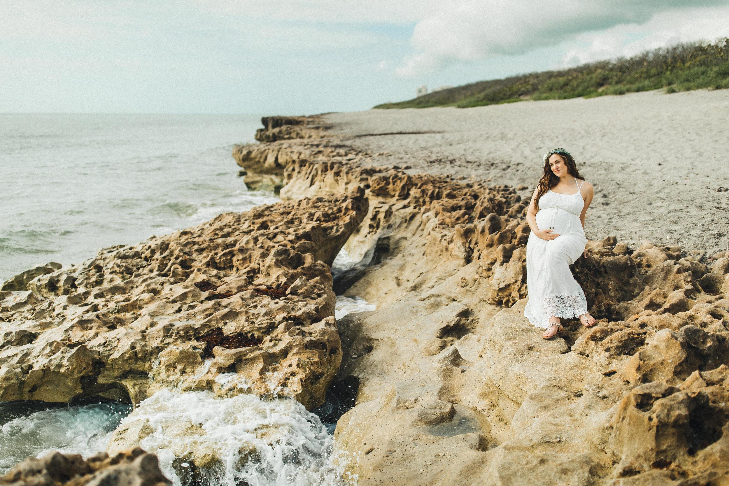 White Maternity Dress- Erica + Aaron's Blowing Rock Preserve- Florida Maternity Photos-51.jpg