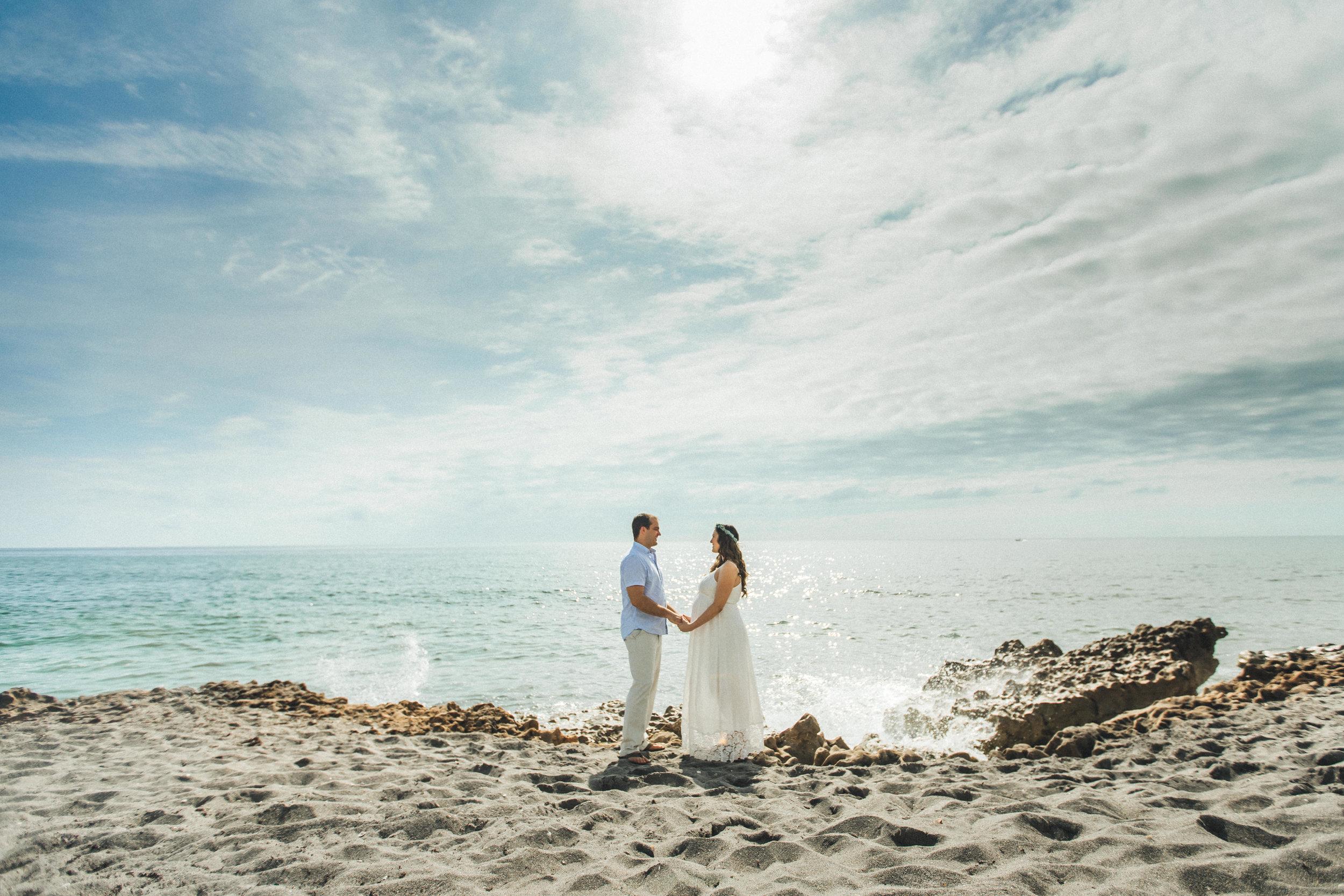 White Maternity Dress- Erica + Aaron's Blowing Rock Preserve- Florida Maternity Photos-65.jpg