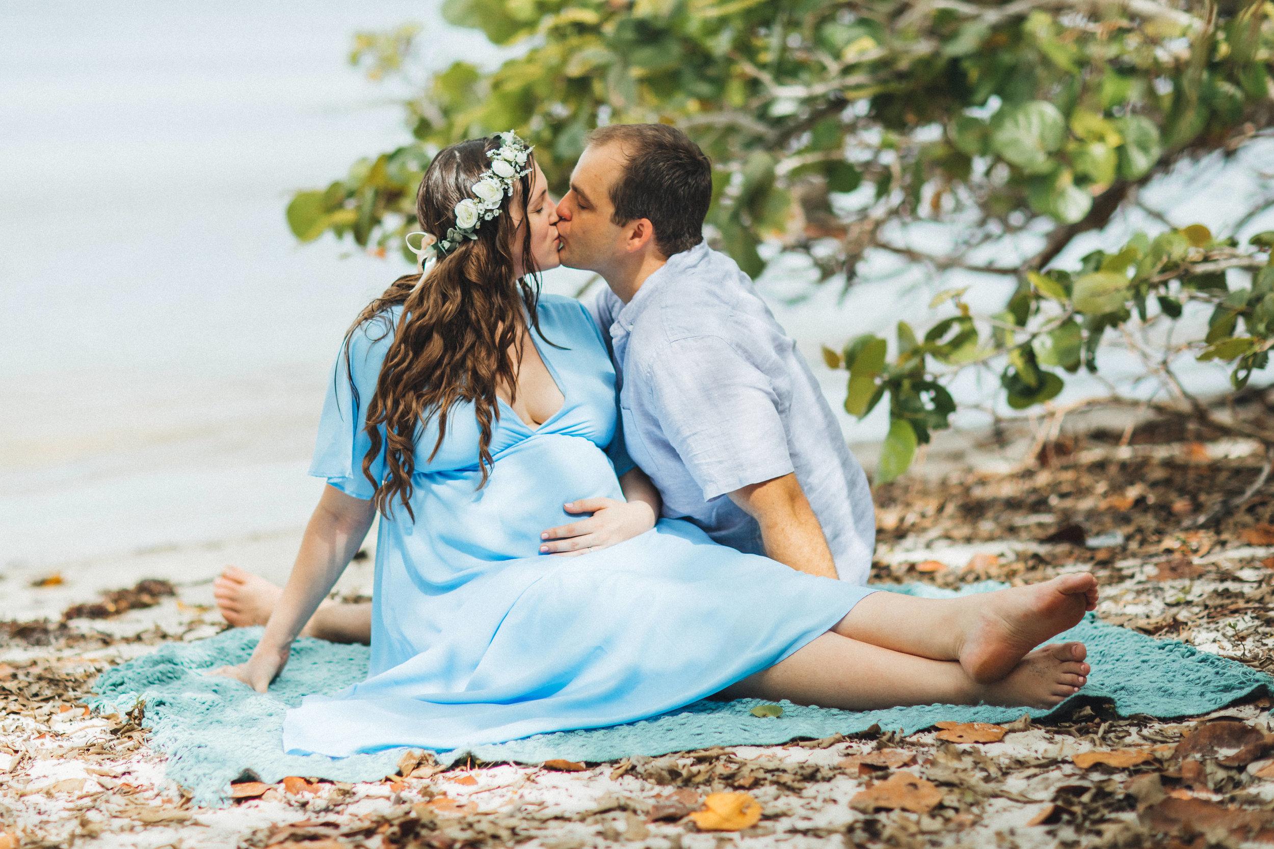 Blue Maternity Dress- Erica + Aaron's Blowing Rock Preserve- Florida Maternity Photos-13.jpg