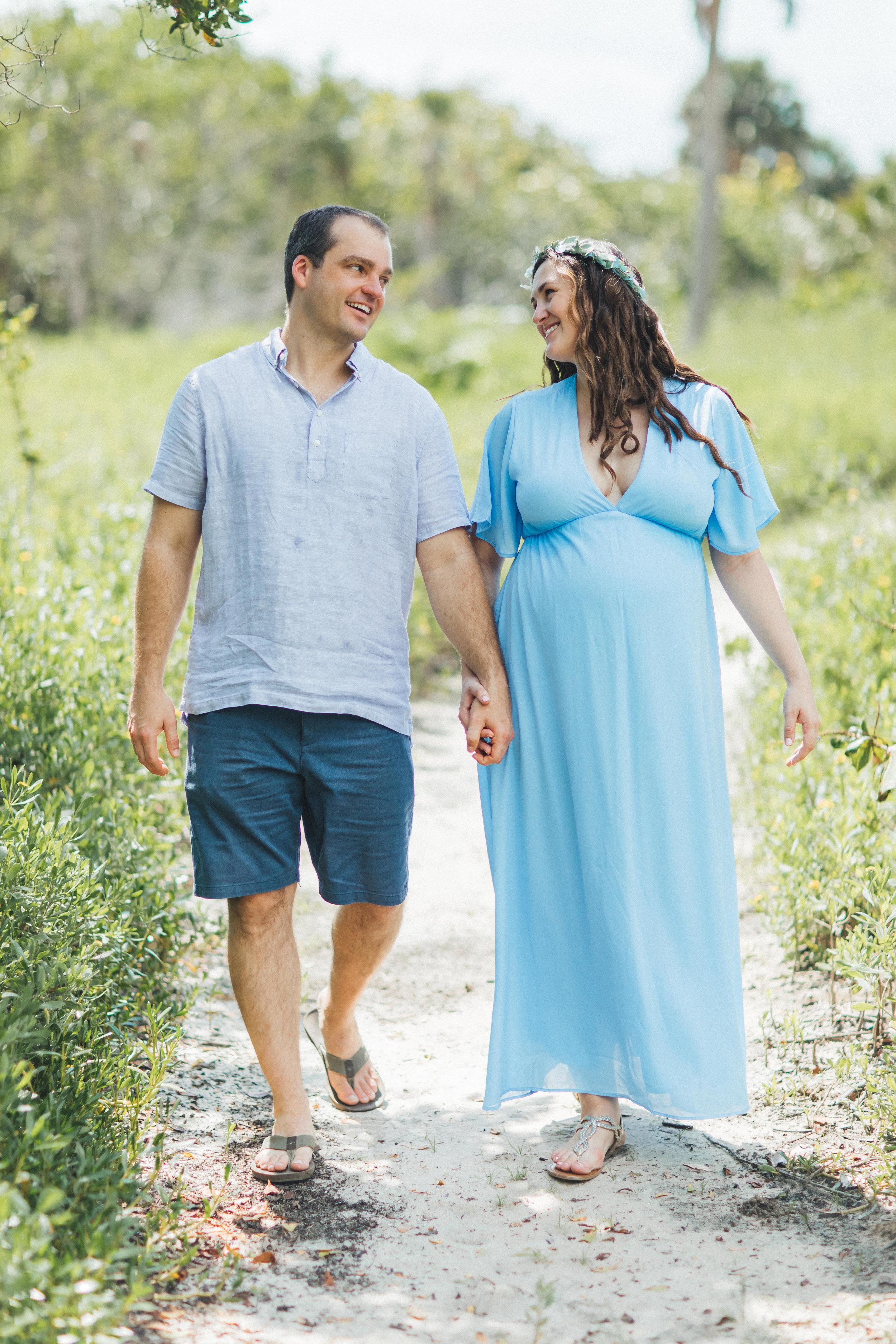 Blue Maternity Dress- Erica + Aaron's Blowing Rock Preserve- Florida Maternity Photos-55.jpg