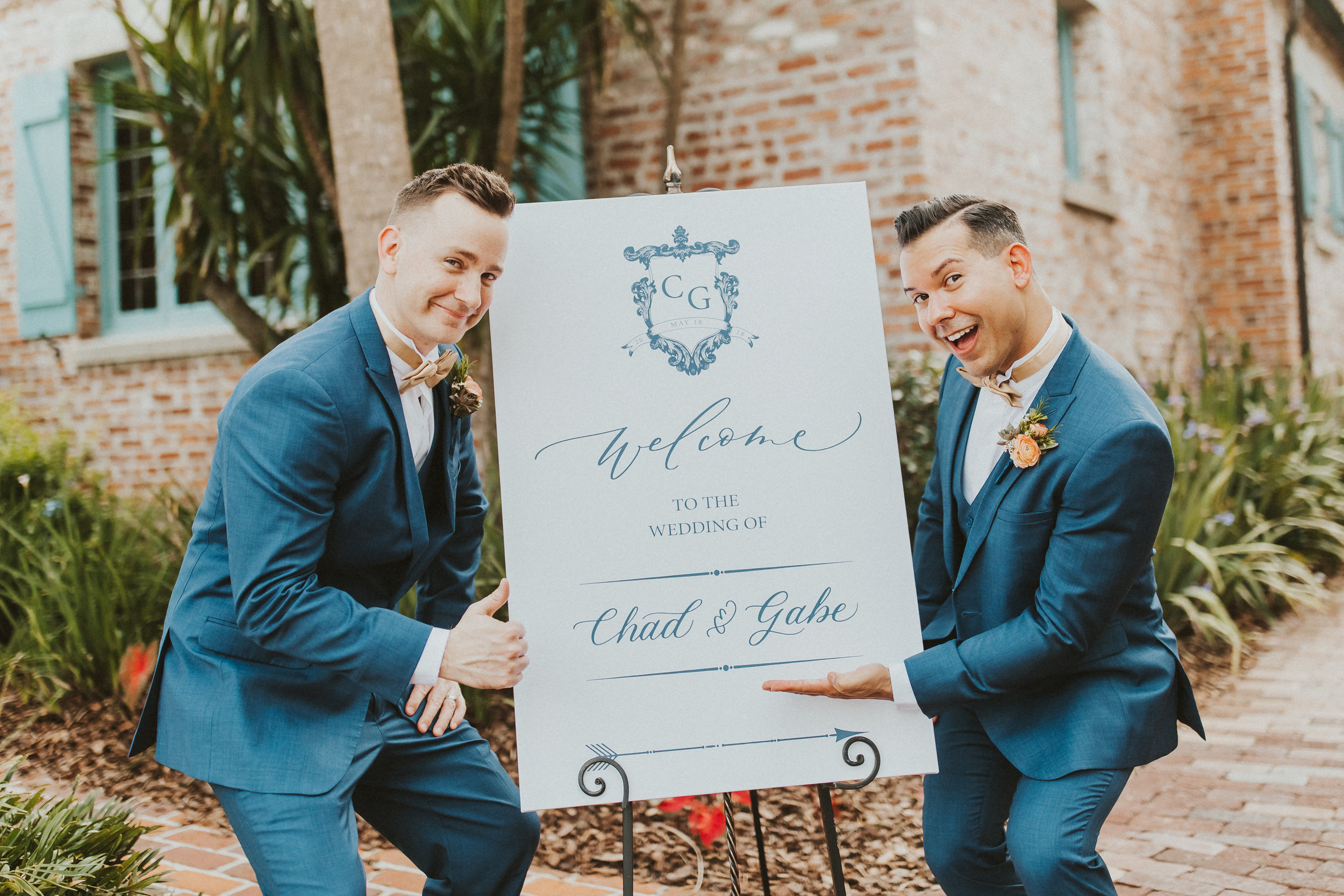 4. Groom Couples Portraits- Navy & Copper Casa Feliz Wedding of Gabe & Chad -43.jpg