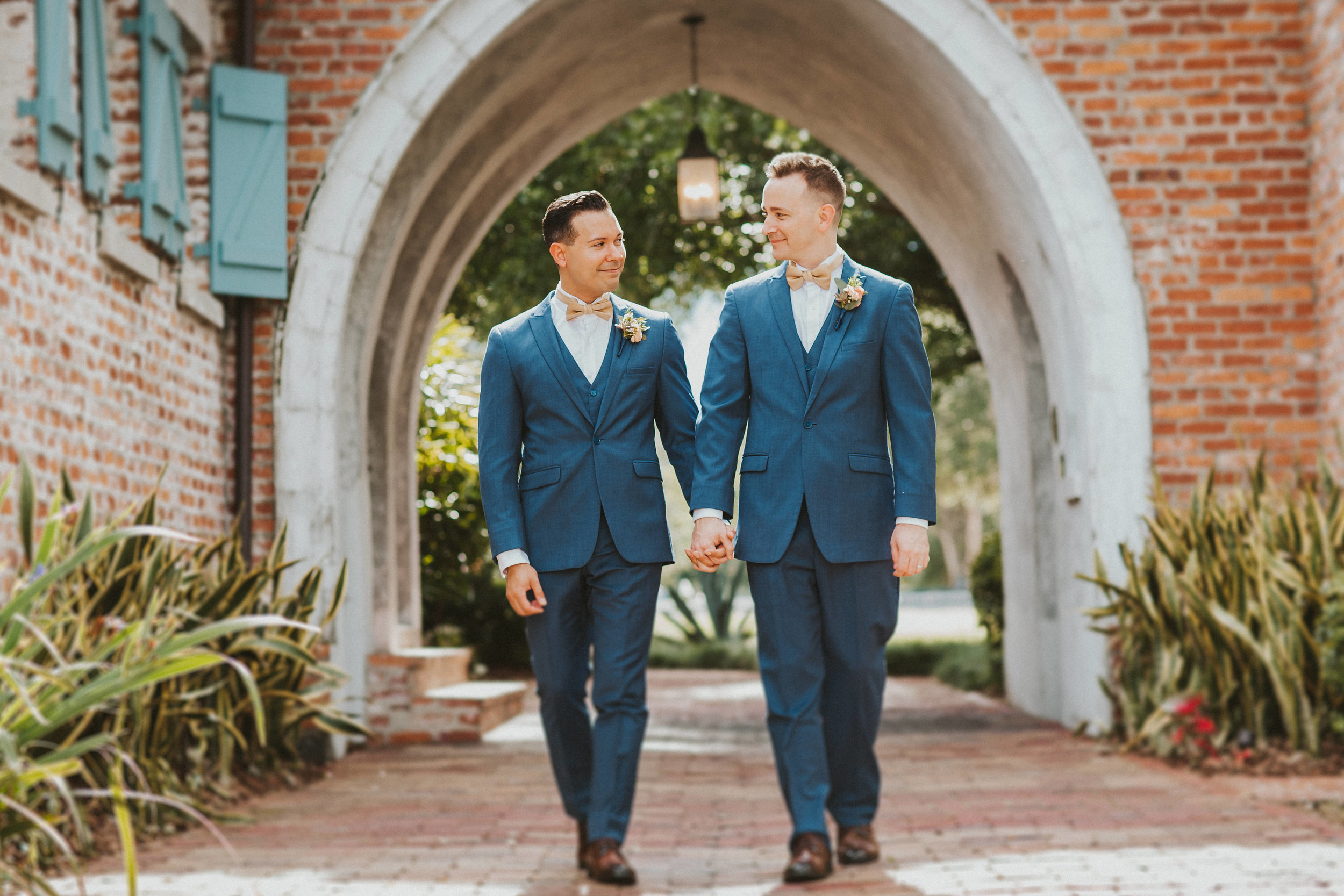 4. Groom Couples Portraits- Navy & Copper Casa Feliz Wedding of Gabe & Chad -27.jpg