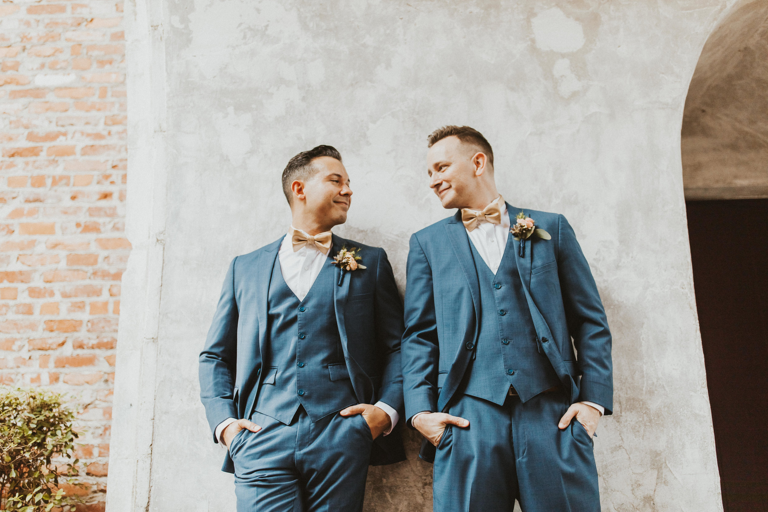 4. Groom Couples Portraits- Navy & Copper Casa Feliz Wedding of Gabe & Chad -114.jpg