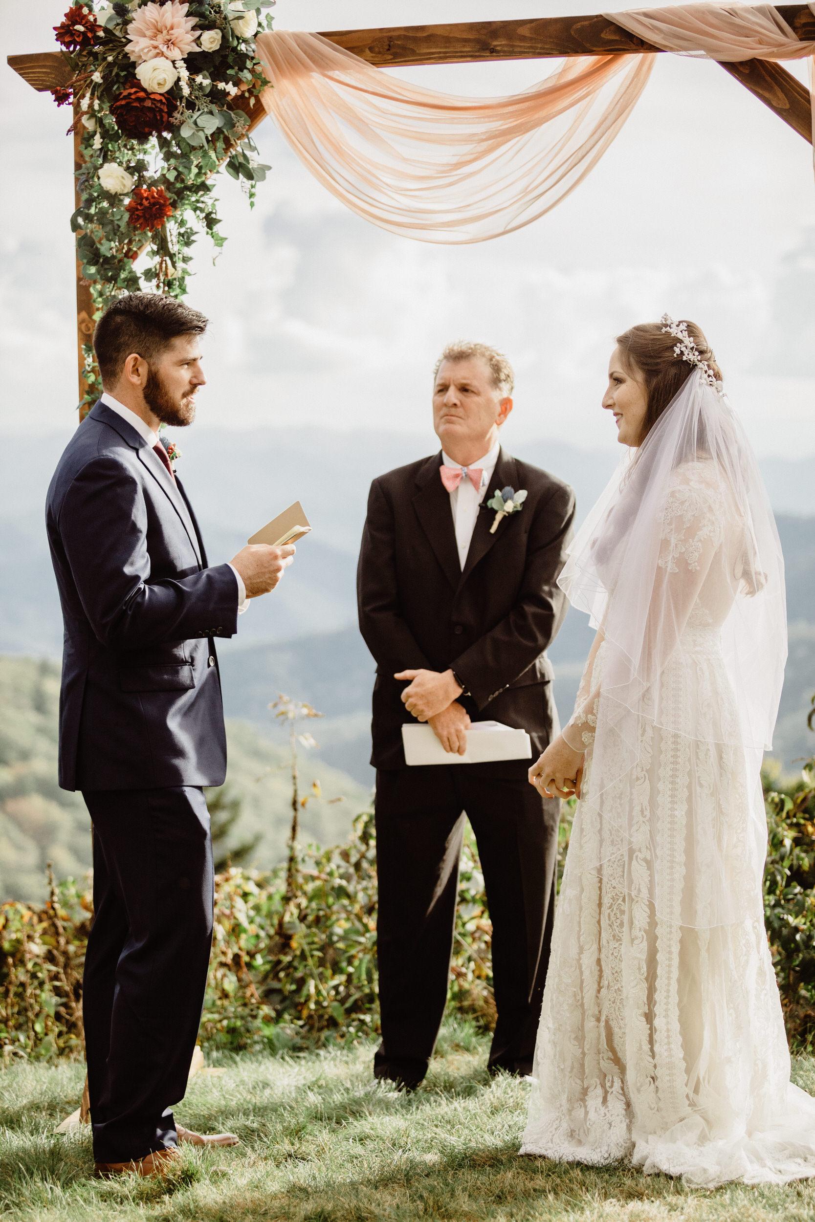 3. Elopement Ceremony- Cole + Rachel's Great Smoky Mountain National Park Elopement-128.jpg