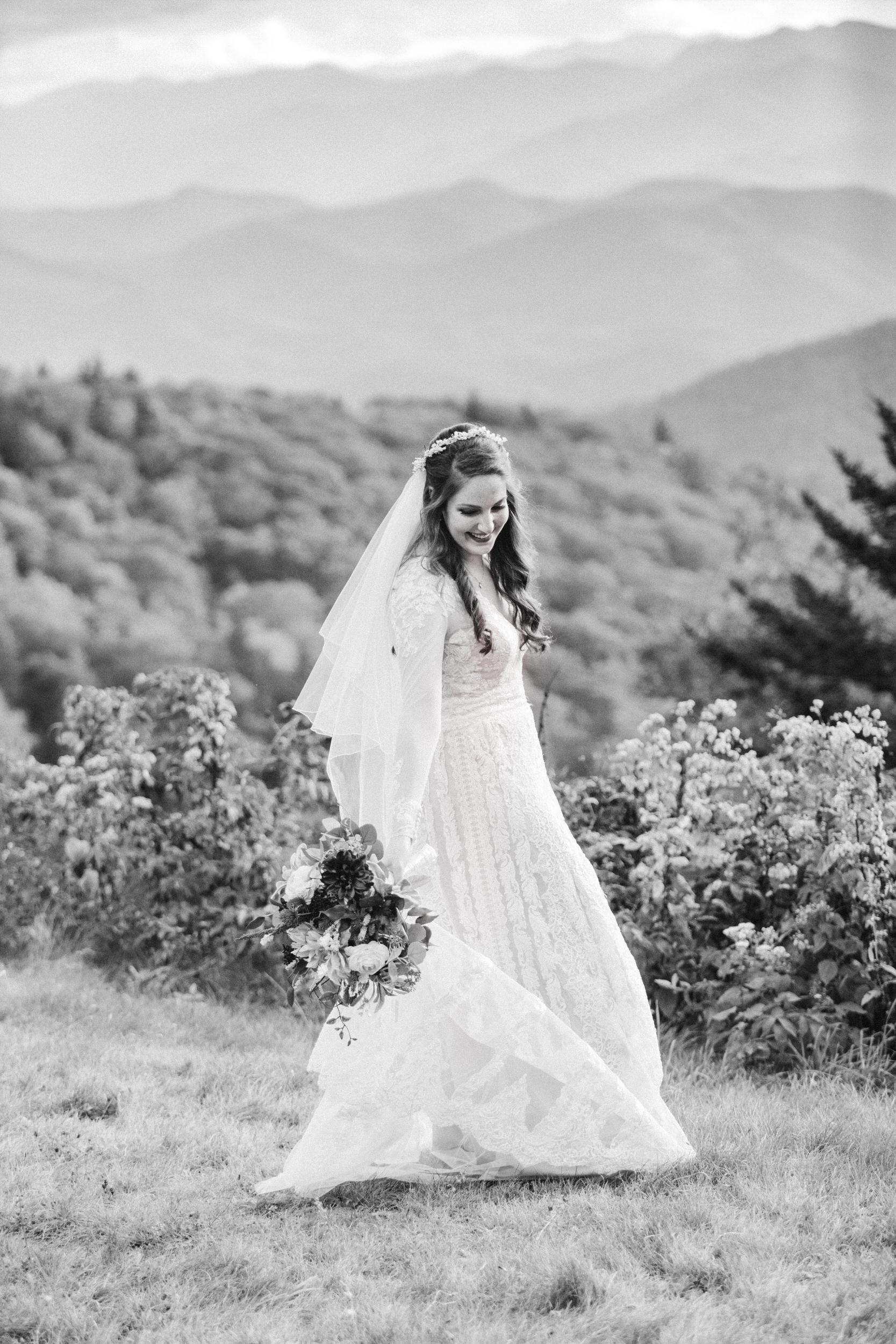 5. Mountain Bride & Groom Portraits- Cole + Rachel's Great Smoky Mountain National Park Elopement-11.jpg