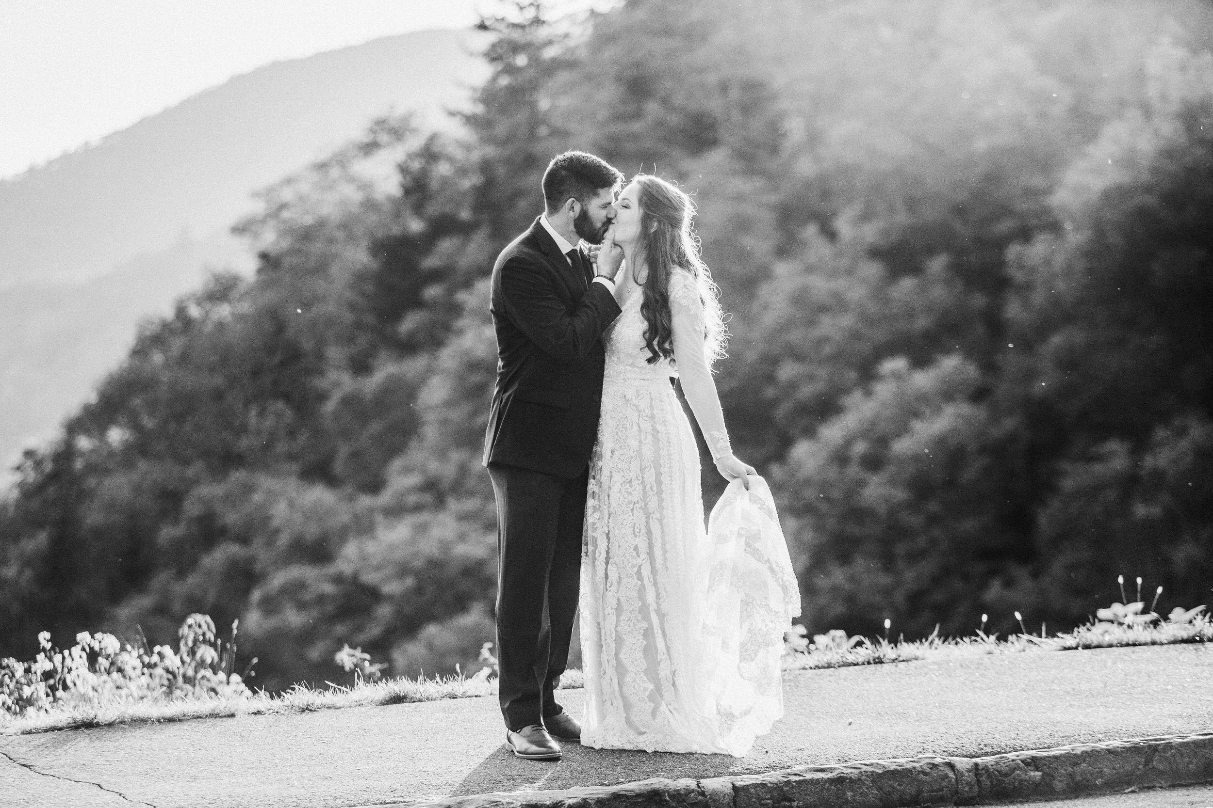 5. Mountain Bride & Groom Portraits- Cole + Rachel's Great Smoky Mountain National Park Elopement-86.jpg