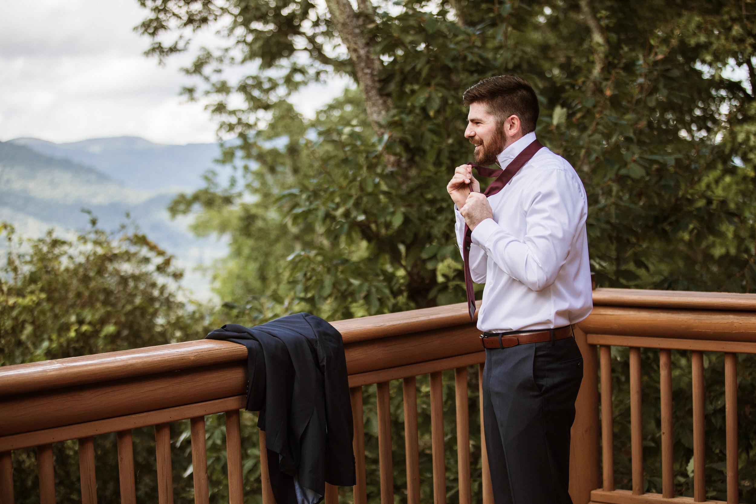 2. Groom's Morning - Cole + Rachel's Great Smoky Mountain National Park Elopement-94.jpg