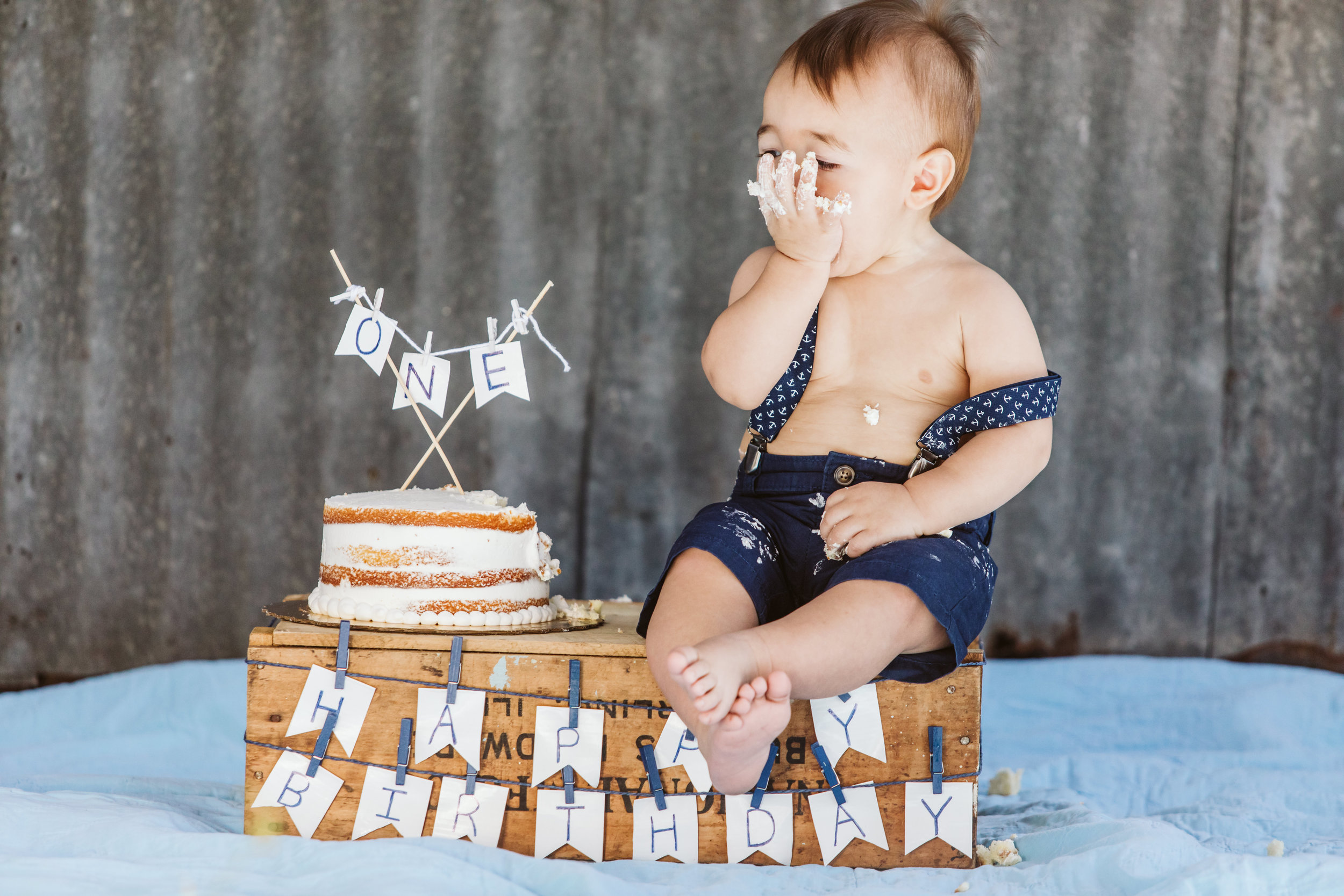 2. Hudson's One Year Birthday Cake Smash- Horse Ranch- February 2019-81.jpg
