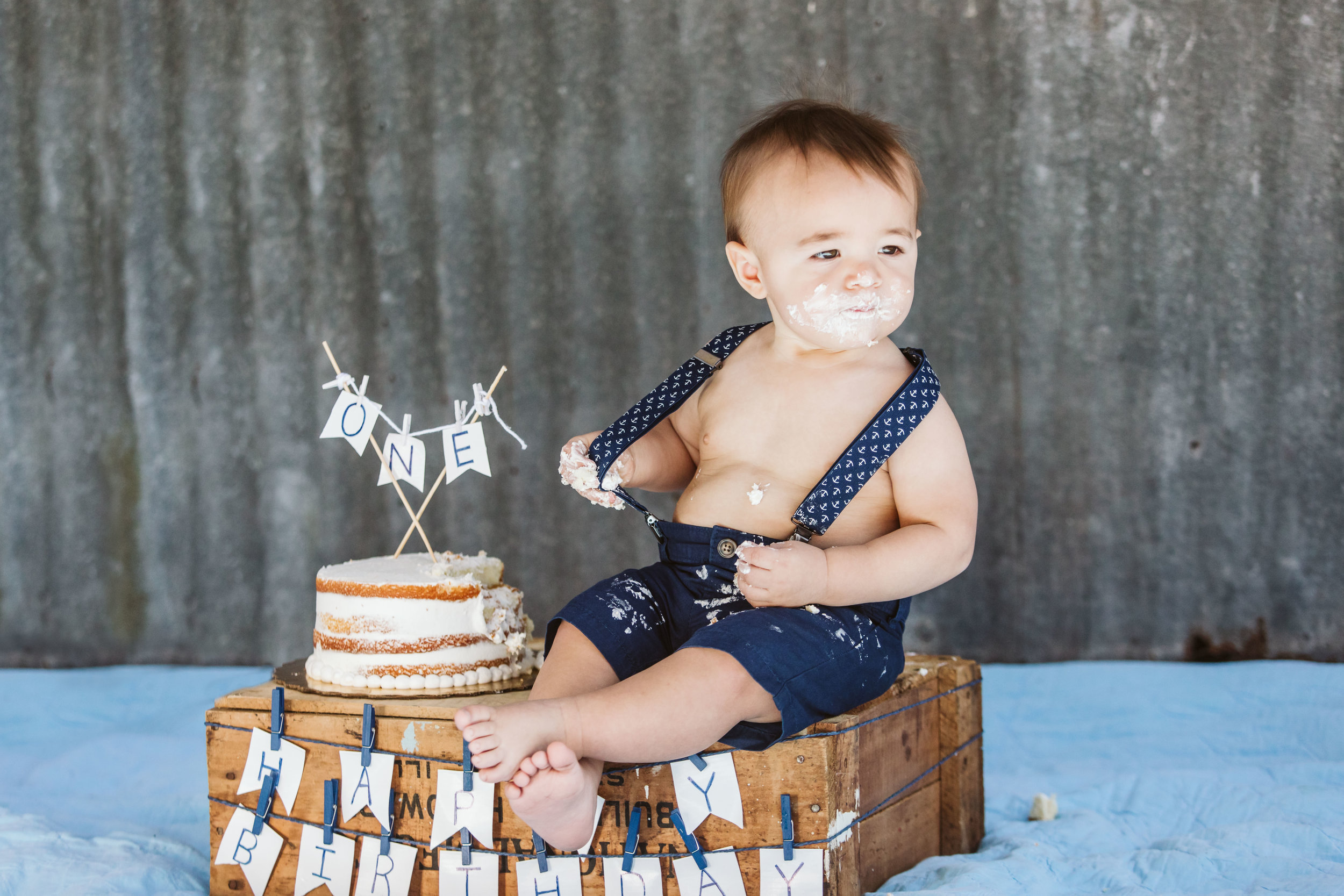 2. Hudson's One Year Birthday Cake Smash- Horse Ranch- February 2019-84.jpg