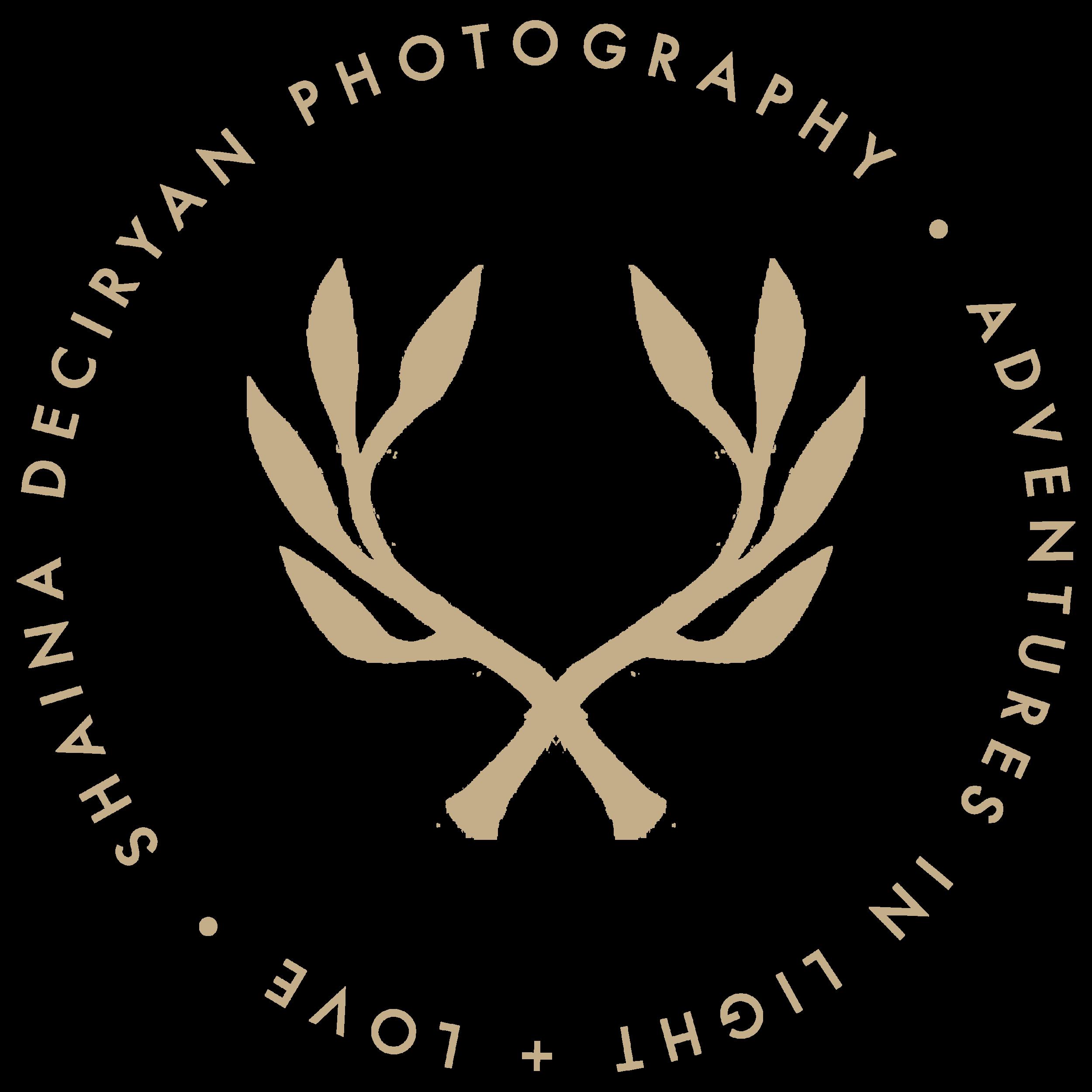 Seattle Adventure Elopement + Intimate Wedding Photographer Logo - Shaina DeCiryan