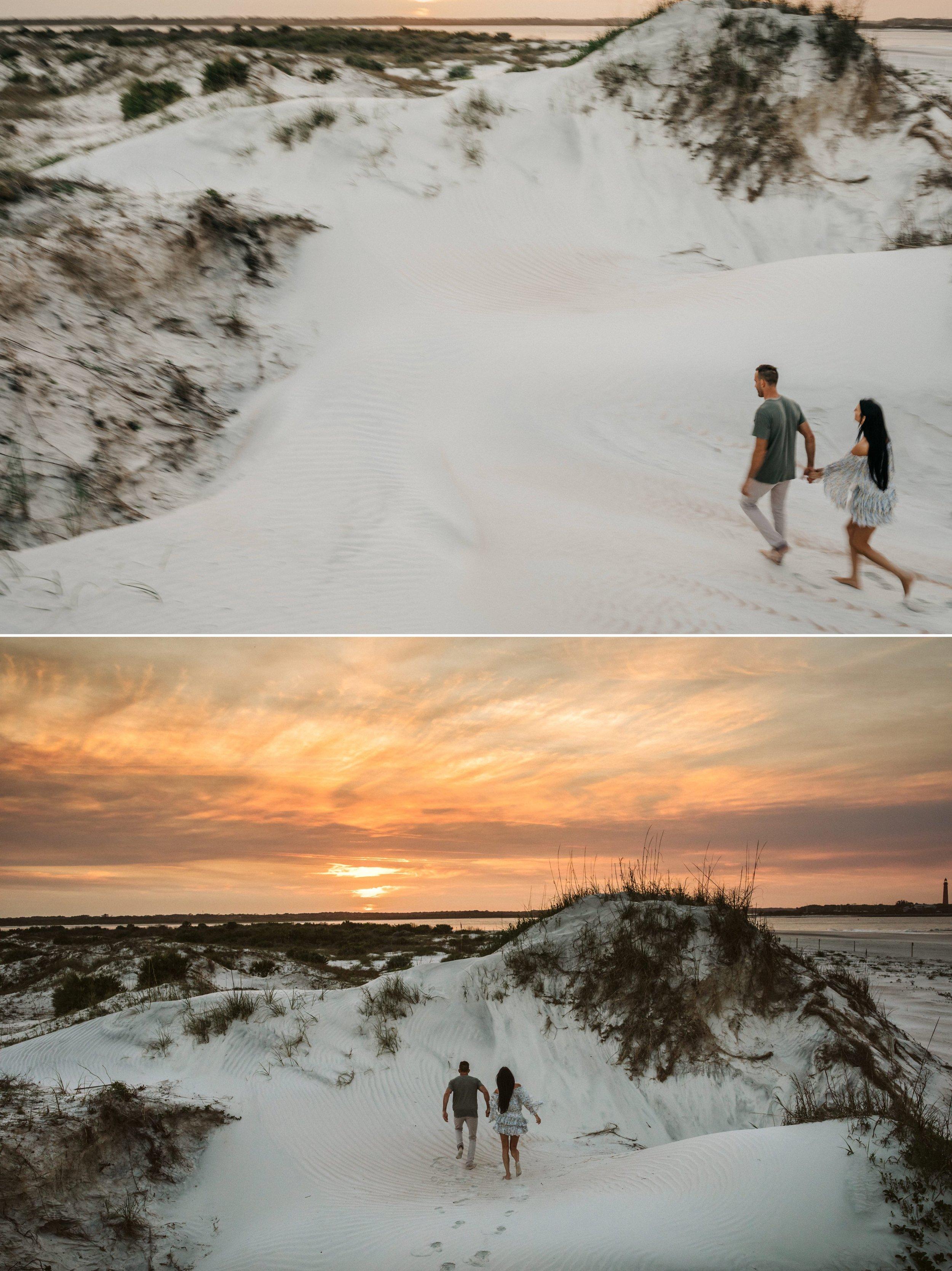 Adventure Brushfire sunset beach engagement- Gabriella + Chad- Shaina DeCiryan photography14.jpg
