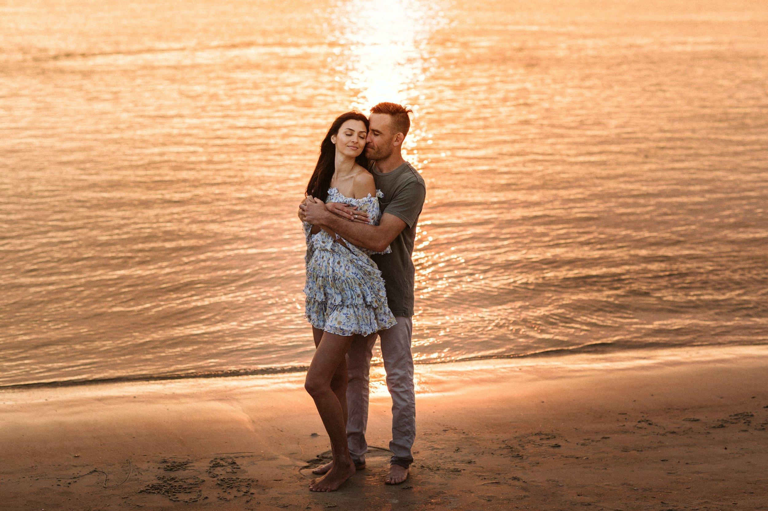 Adventure Brushfire sunset beach engagement- Gabriella + Chad- Shaina DeCiryan photography10.jpg