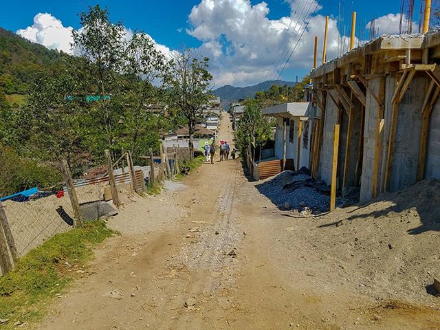 A street in the community of Sumal Grande, Guatemala. Our work is ensuring these communities have a brighter future.