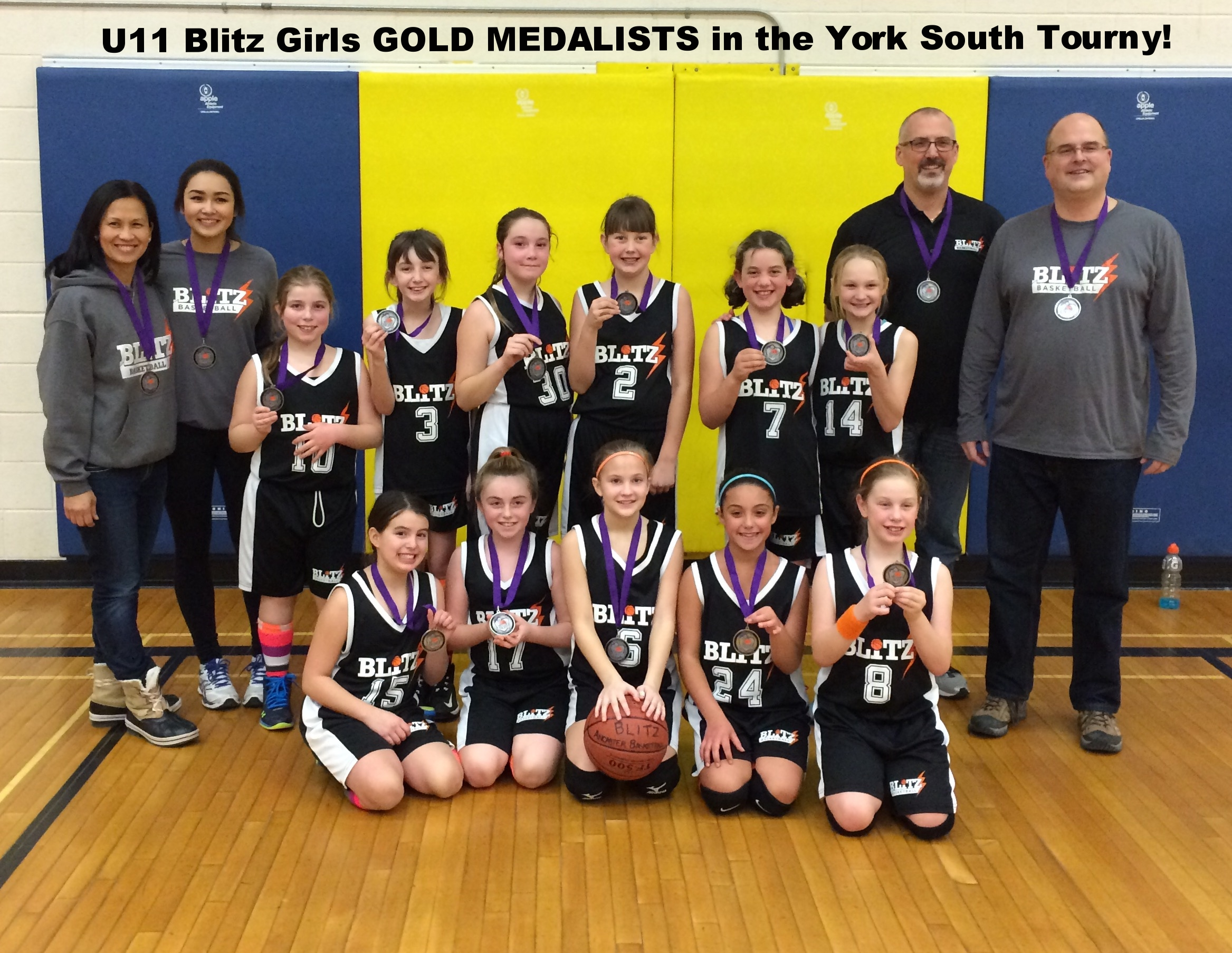 Blitz Atom Girls Gold Medal York South Tournament  2016.jpg