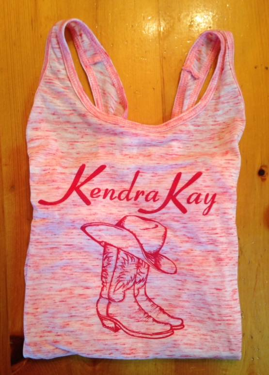"""""""Kendra Kay"""" Lady's Tank (pink) - S M L"""