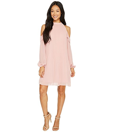 CeCe Noelle Cold Shoulder Pleated Dress