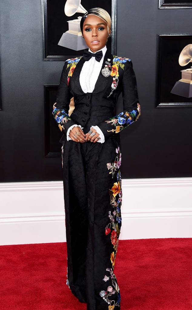 Janelle Monae at the 2018 Grammys