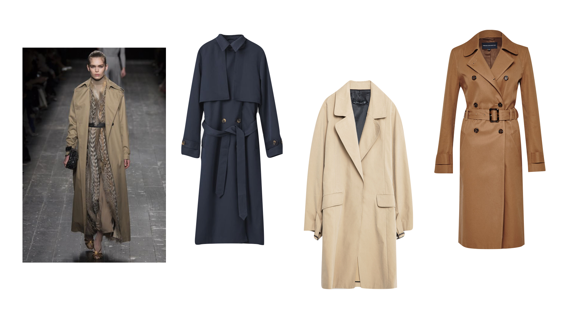 GANNI NAVY MAC  |  ZARA BEIGE MAC  |  FRENCH CONNECTION TAN MAC