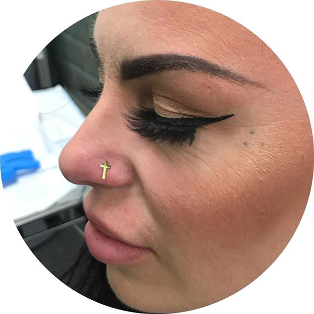 Go big or go home! Thanks Chloe ✝️😃 #nosepiercing #nose #piercing #frontiertattooparlour