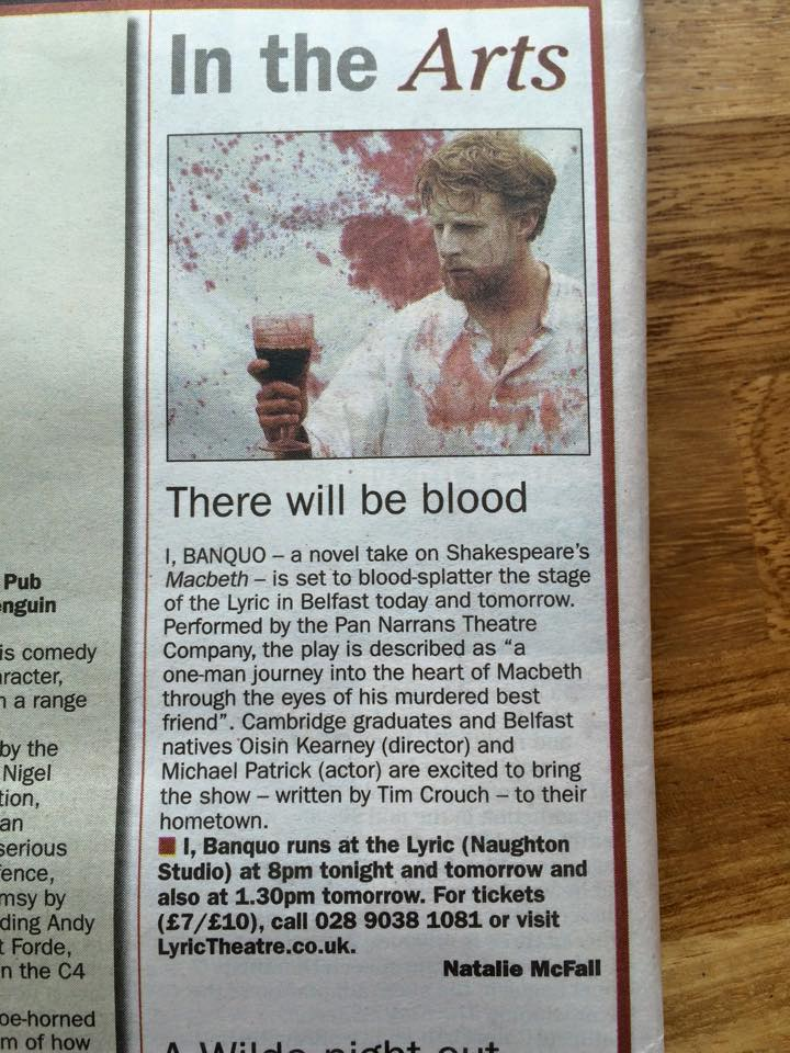 Our first write up in a newspaper