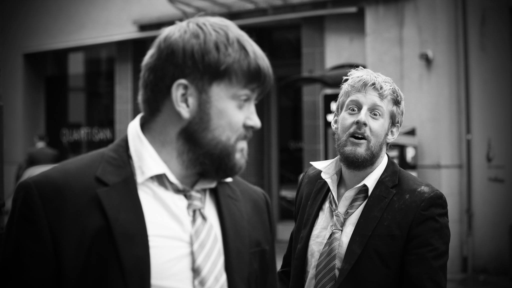 Owen McCavana and Michael Patrick in How These Desperate Men Talk at Belfast Culture Night 2015
