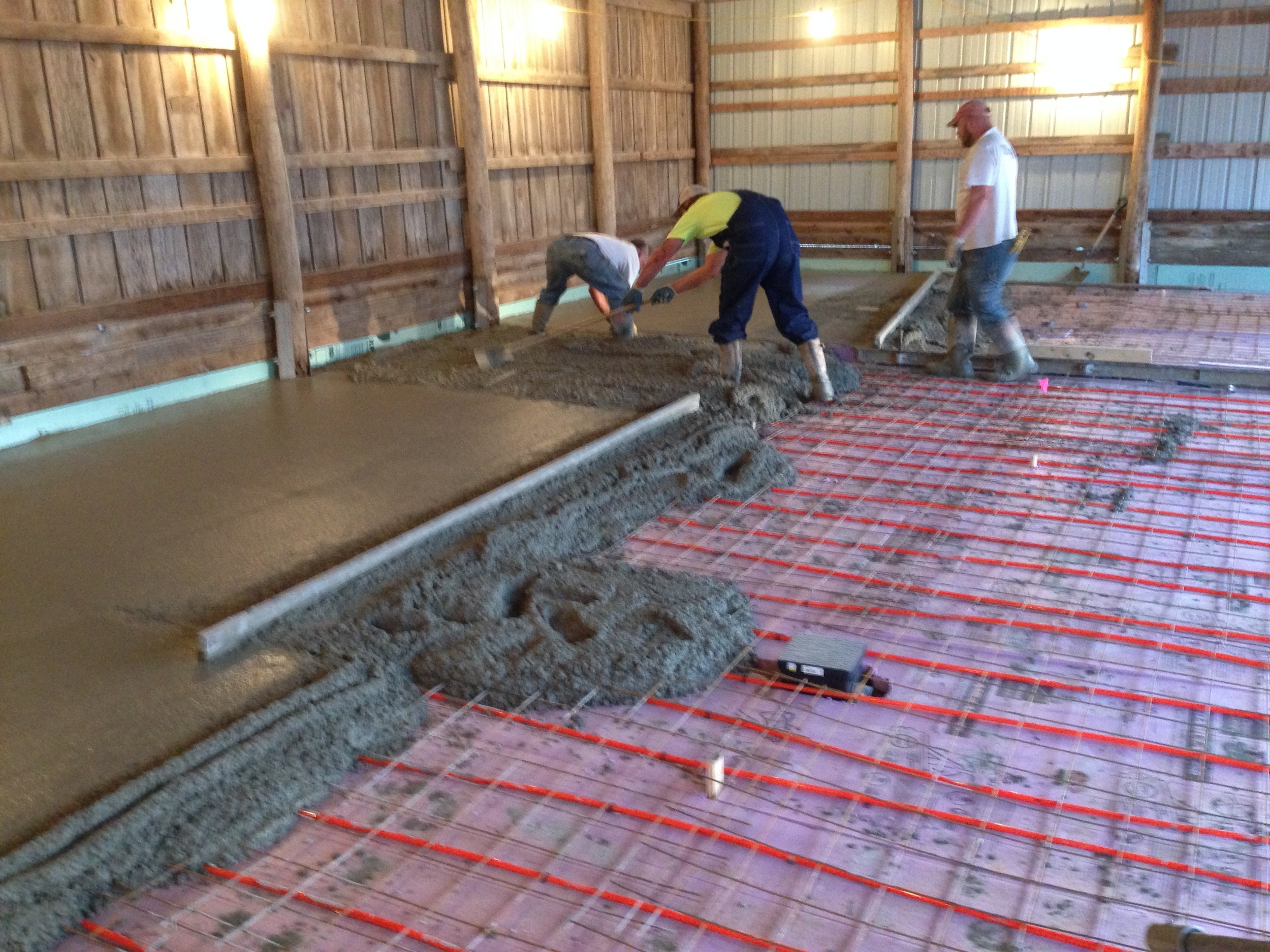 Concrete pouring! This part we hired out. Many thanks to O'Gorman Masonry for doing a bang-up job.
