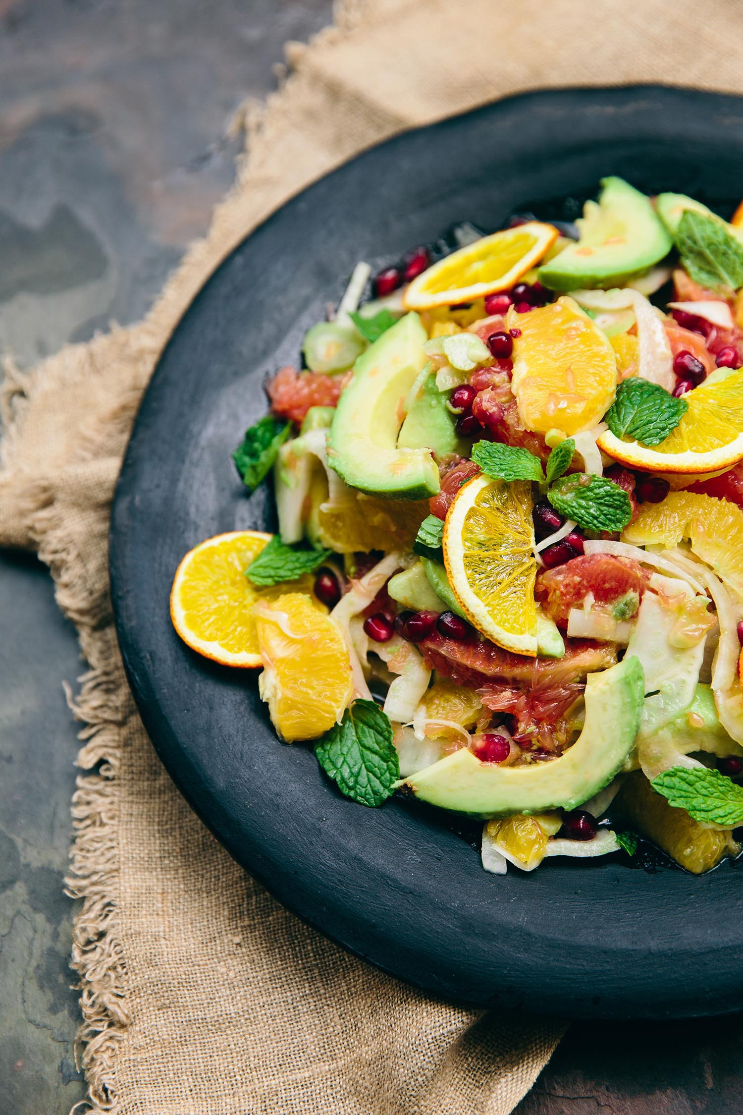 Citrus, Fennel and Avo salad