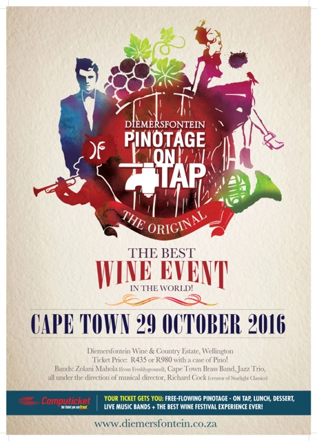 Diemersfontein Pinotage on tap and a giveaway!