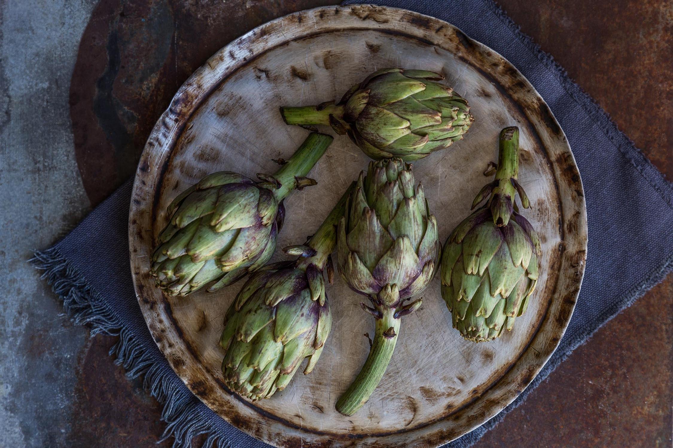 Brie stuffed artichokes