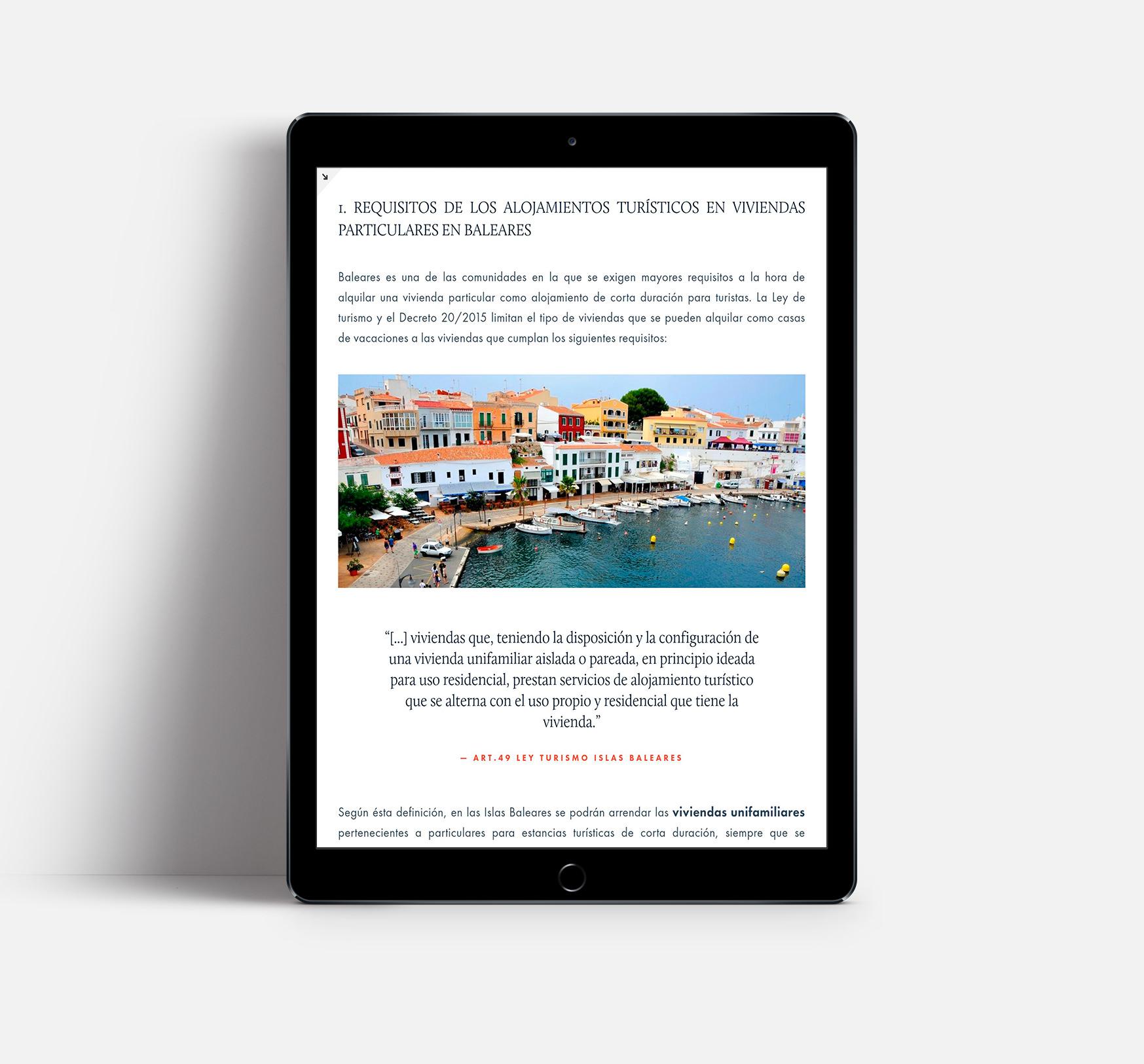 artículo sobre arrendamiento vacacional en Baleares