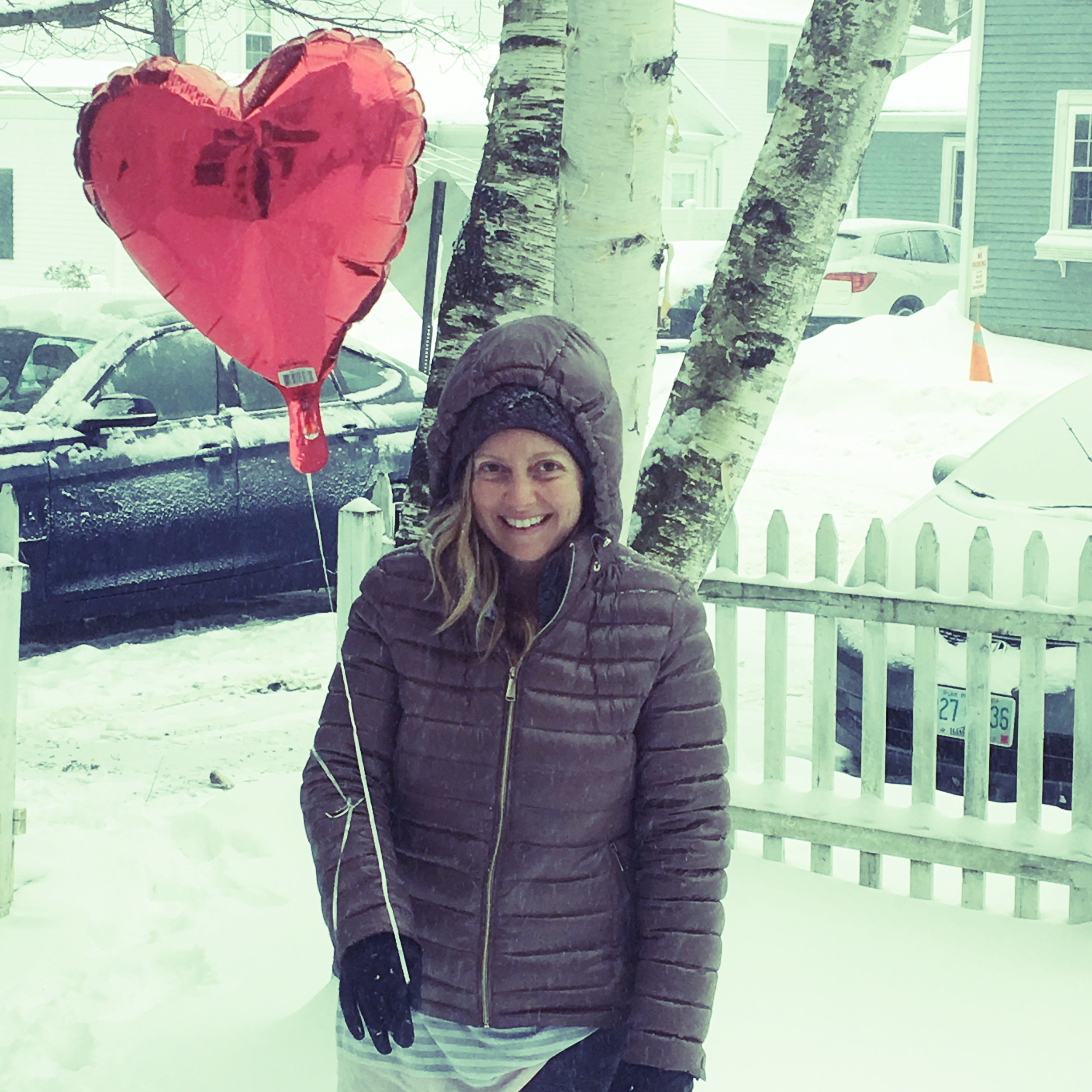 Stomping in the snow with a heart shaped balloon is exactly what my inner wild child was begging me for on this cold winter day, so I embraced it!