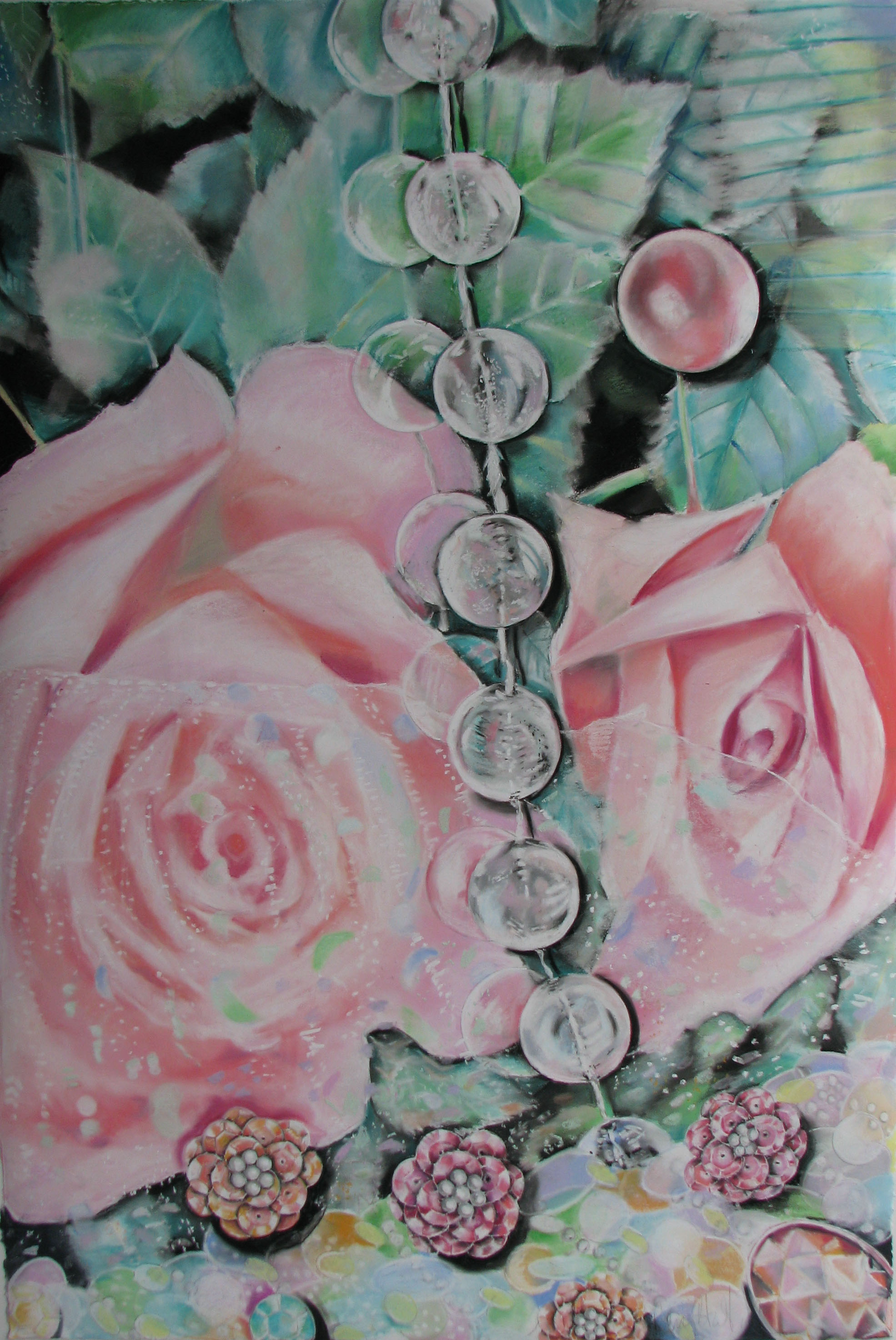 Transformation of the Rose   39 x 27, pastel on paper