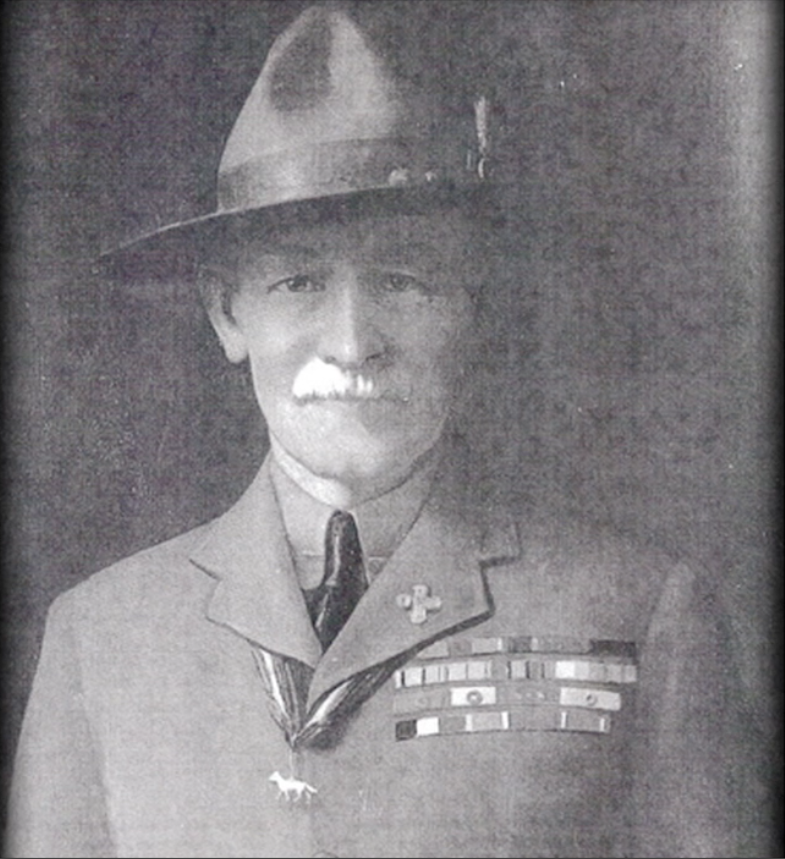Sir Robert Baden Powell, the founder of Boy Scouts in England.