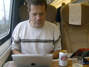 We write where we can - including on trains.