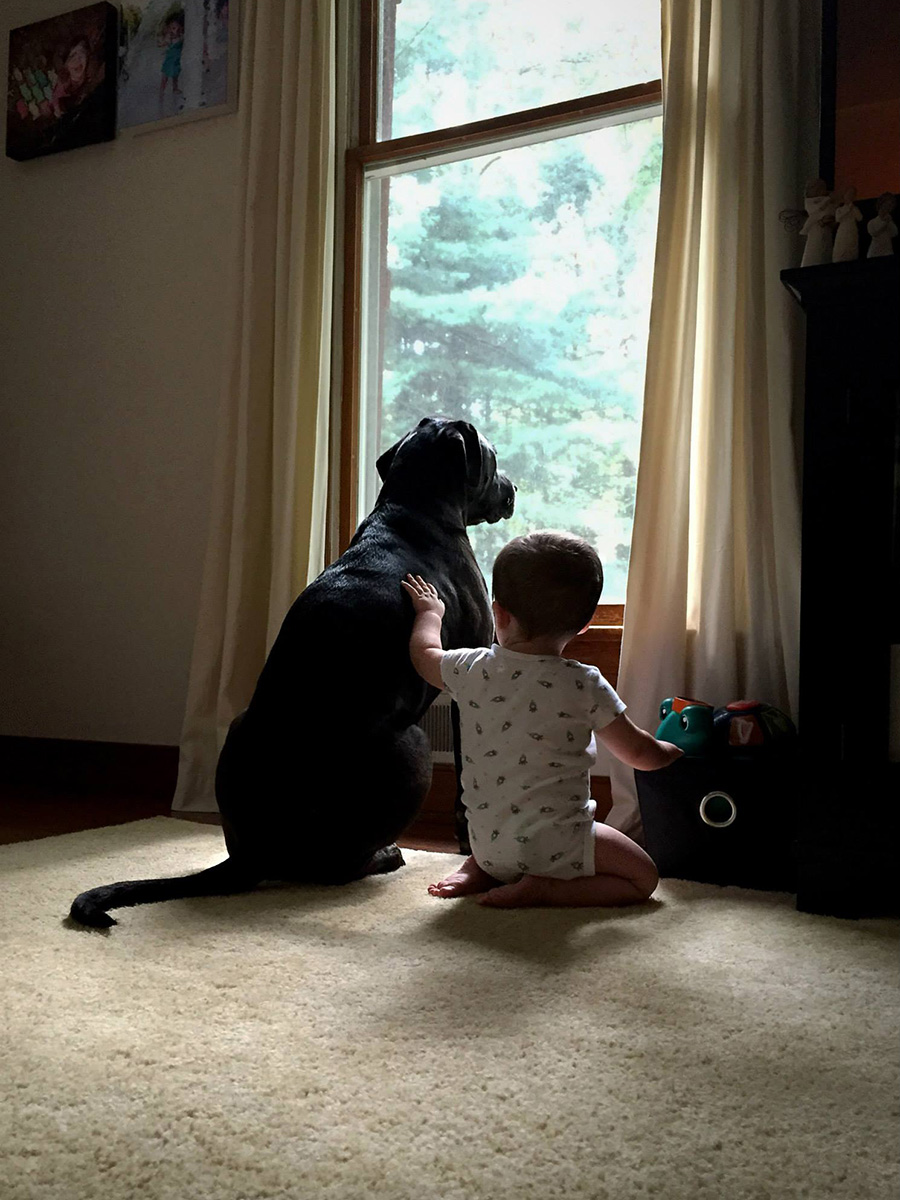Luke and his dog.