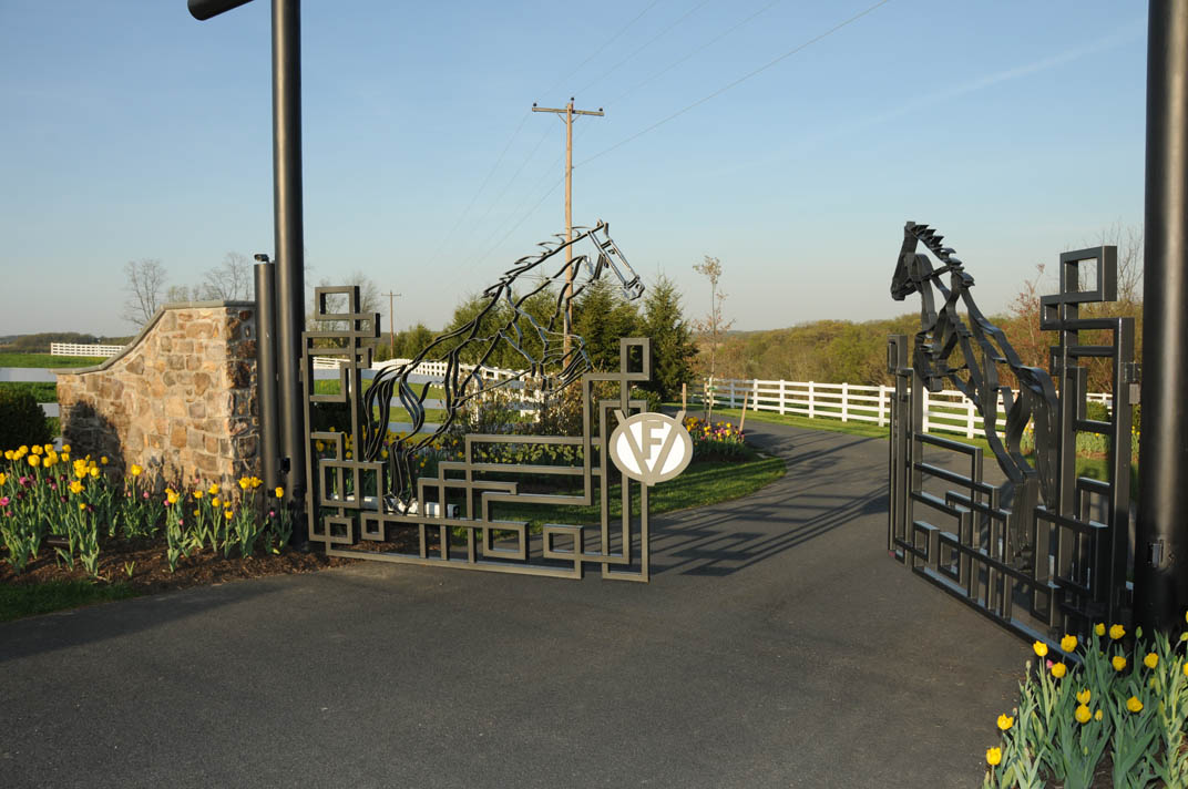 At nearly a quater-mile from the home, this gate needed to have remote camera and gate control functions that can be activated from different locations on the property