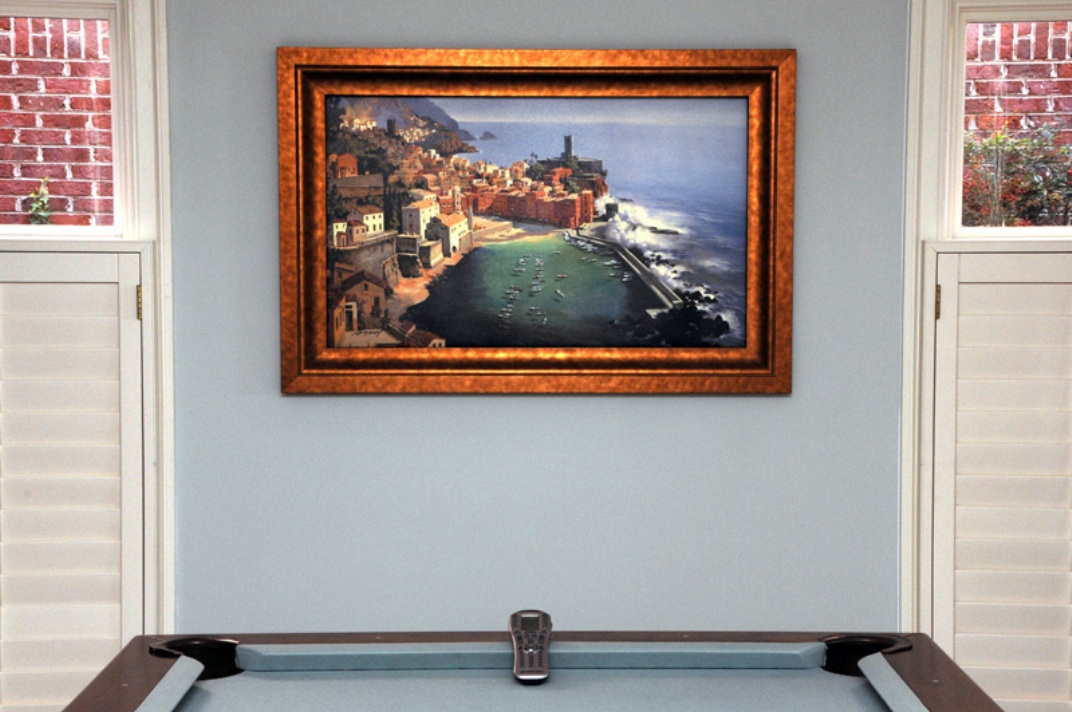 An beautiful painting sits inconspicuously on the wall, but it conceals something more