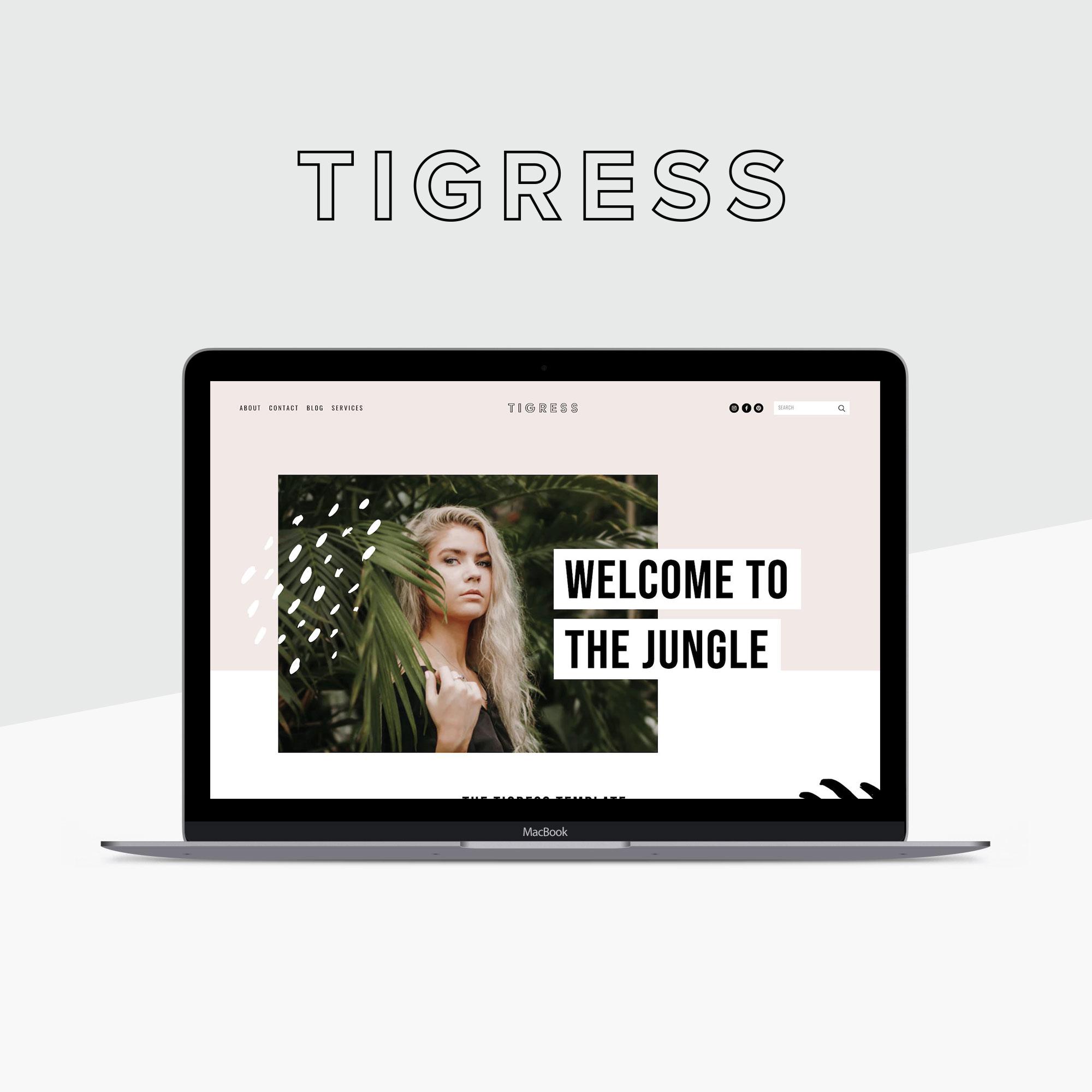 Tigress Squarespace Template