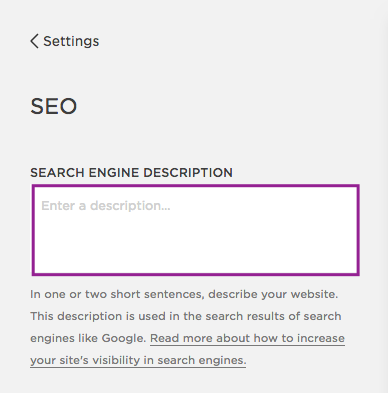 Leave your search engine description emply and give each page a unique meta description instead.