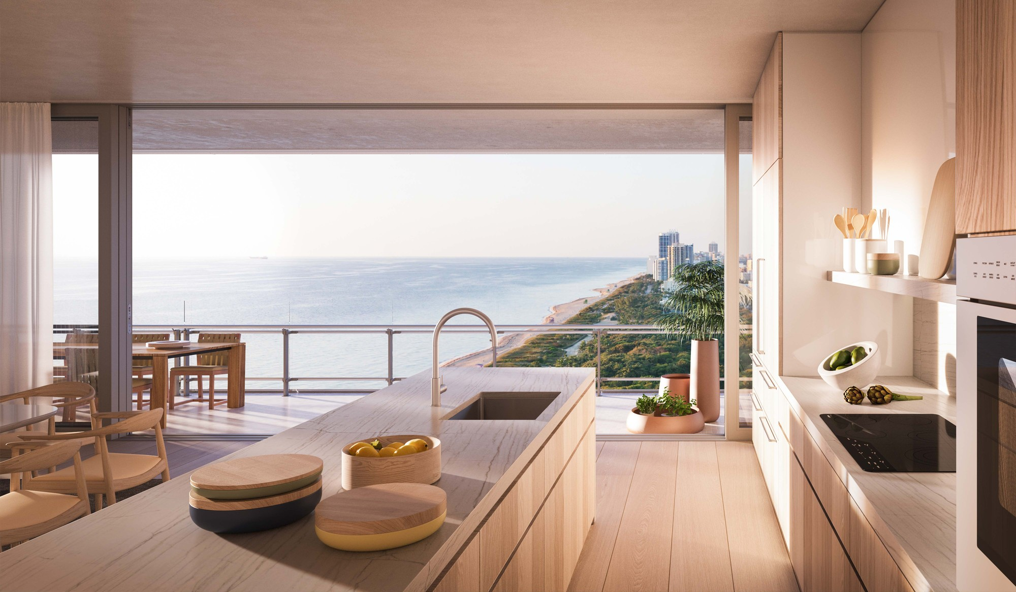 Rendering of interior space at Eighty Seven Park (Rendering: Courtesy of Terra Group)