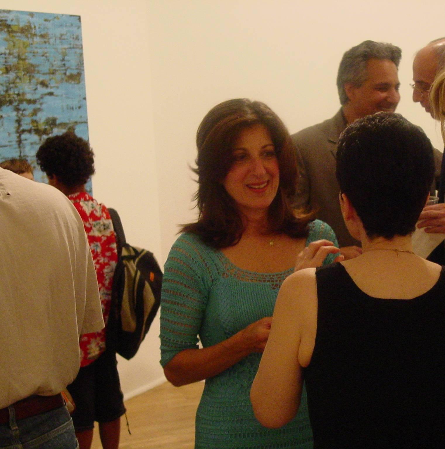 Opening Reception at Cheryl Pelavin Fine Arts, September 5th, 2002.