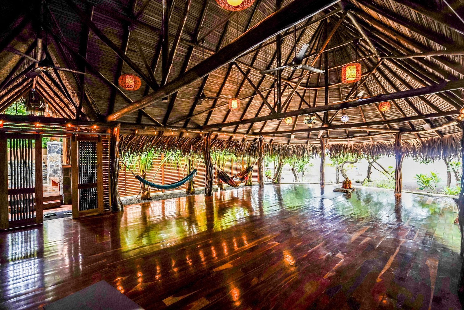 featured in Architectural Digest as one of the world's best open-air yoga shalas