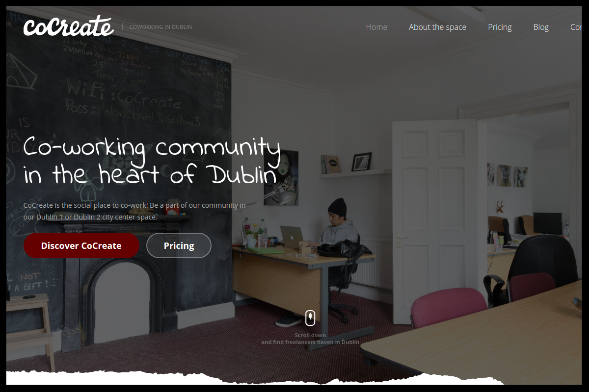CoCreate, D1 and D2    Co-working community in the heart of Dublin . the social place to co-work! Be a part of our community  Type:  Owner Managed Coworking Space  Quick Contact:    hello@cocreate.ie