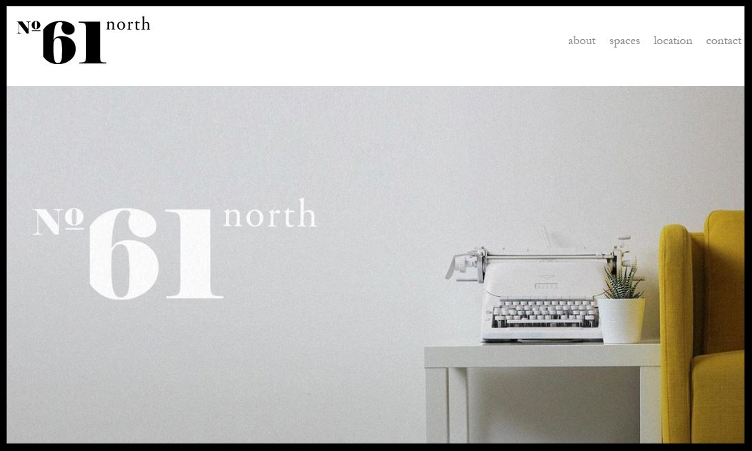 No61 North  working space for young and exciting companies and freelancers to grow together. Located in the center of Wexford   QUICK CONTACT:  +353 (0) 53 915 2005  work@61-north.com